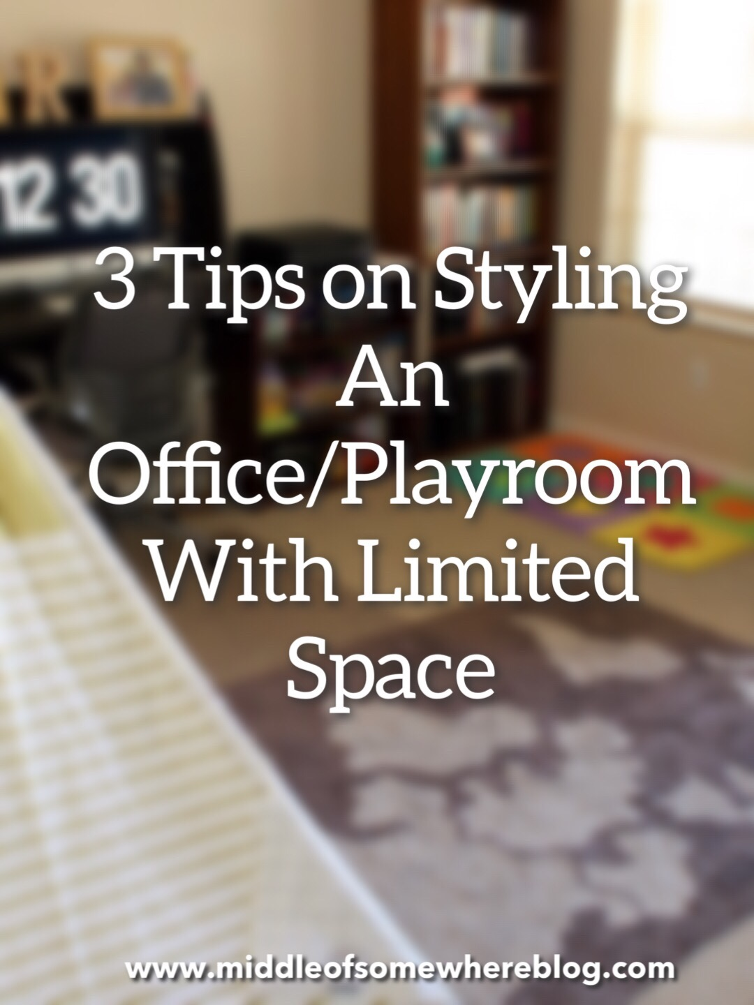 playroom office with limited space