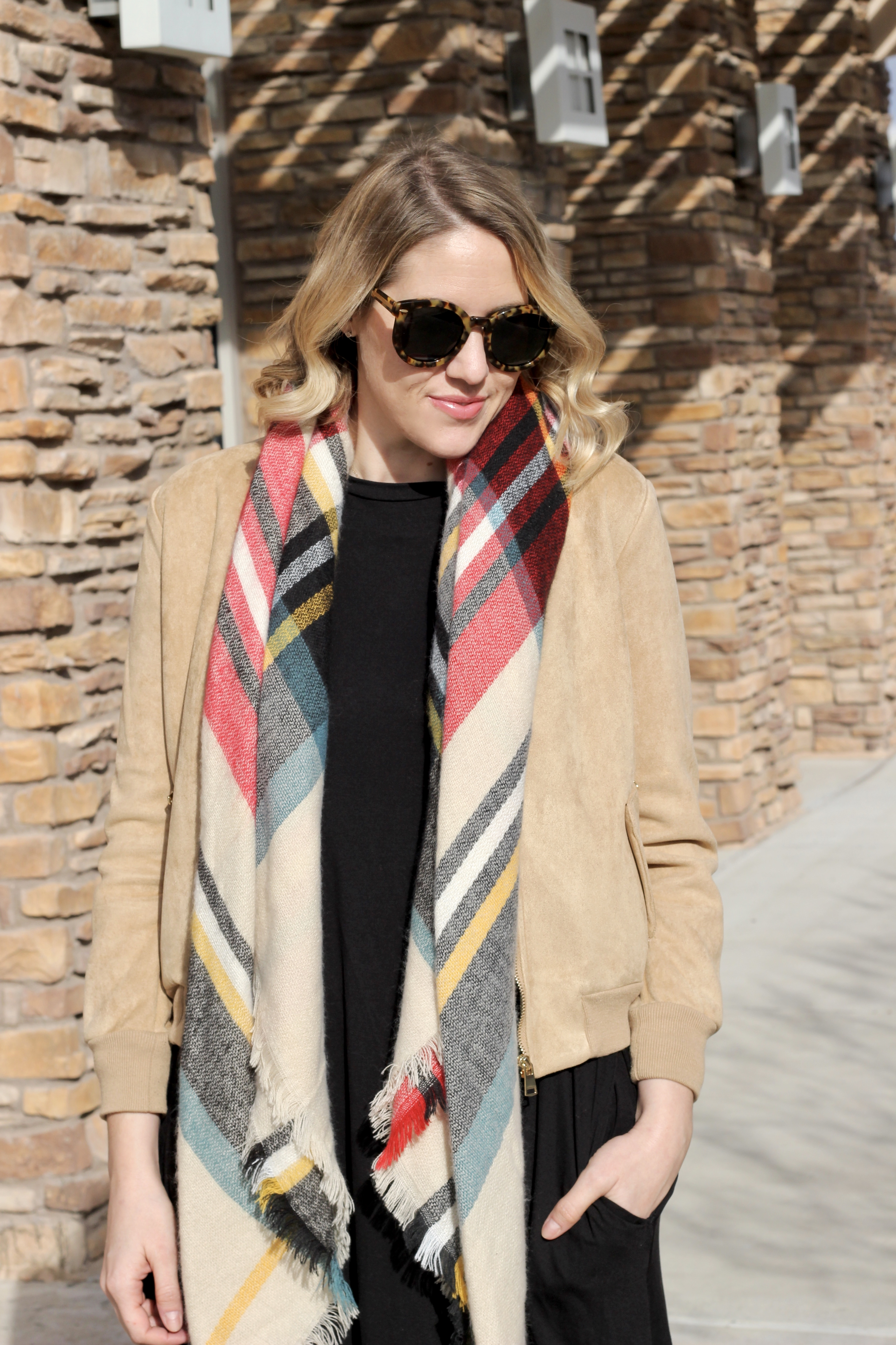 blanket scarf outfit