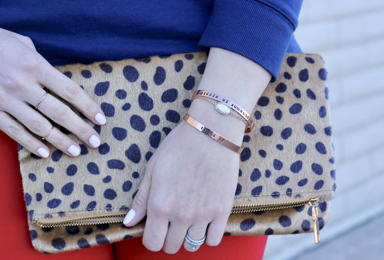 personalized bracelets #tiredaf #leopardclutch