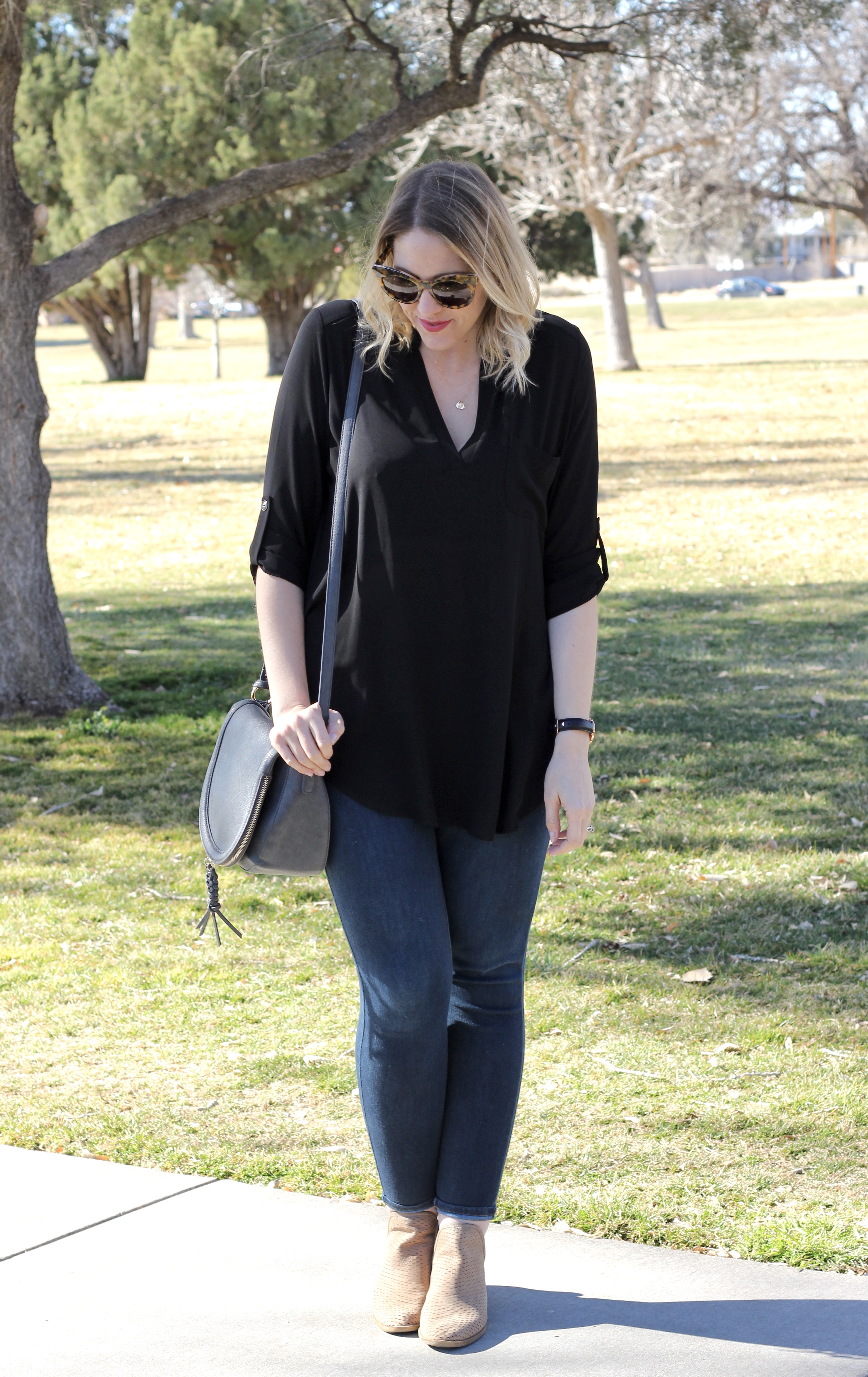lush roll sleeve tunic from nordstrom