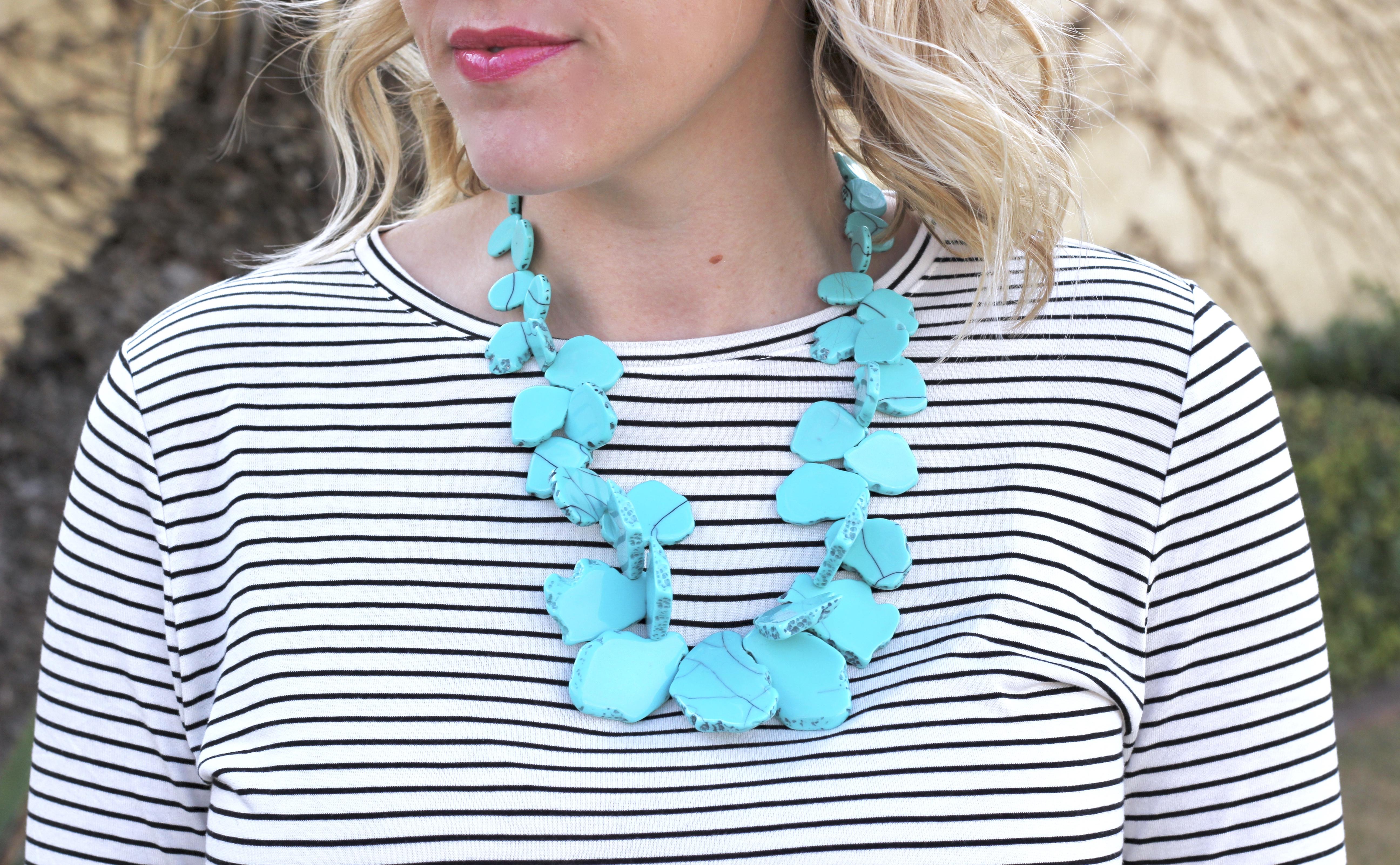 Baublebar turquoise seaglass bib necklace