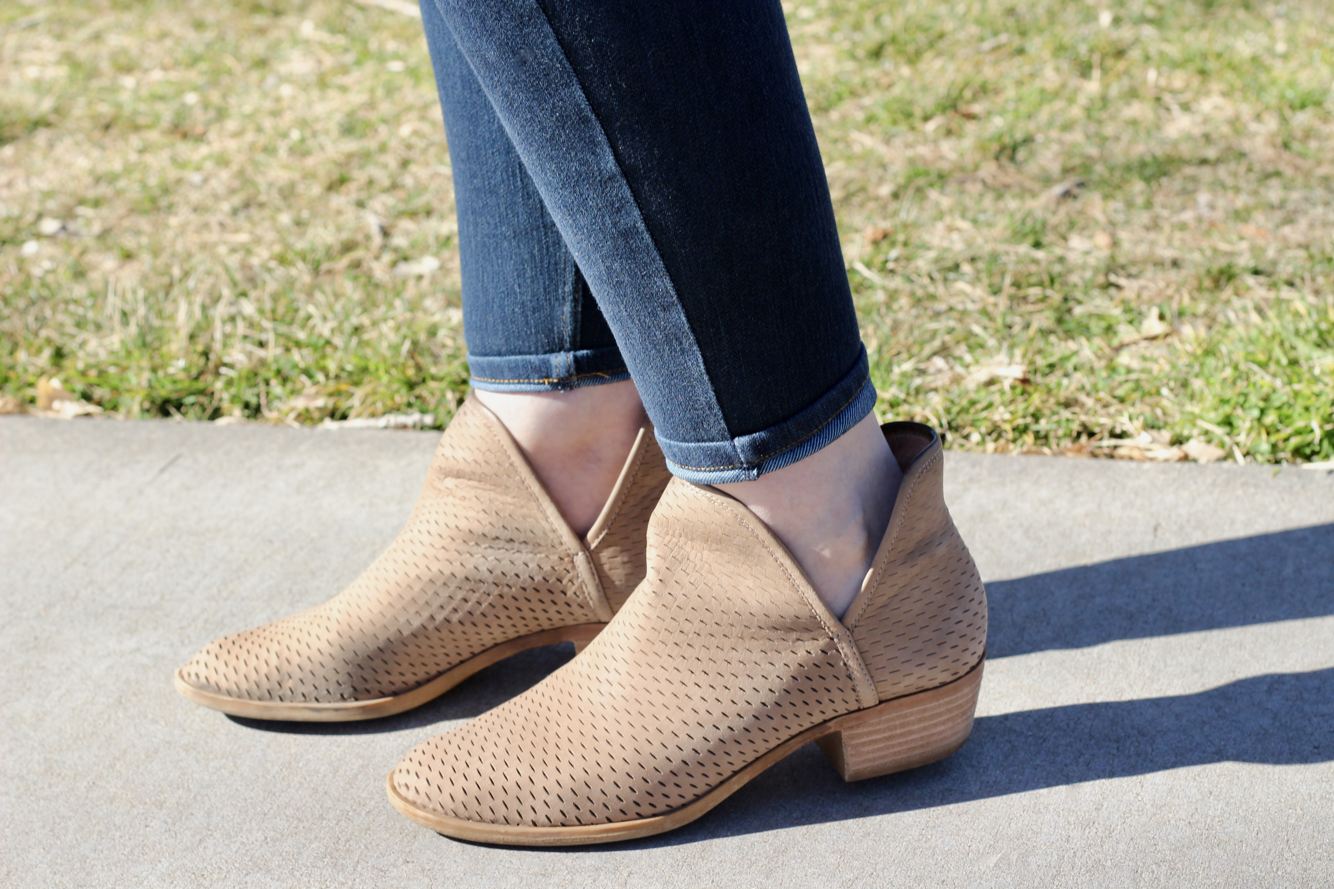 lucky brand perforated booties