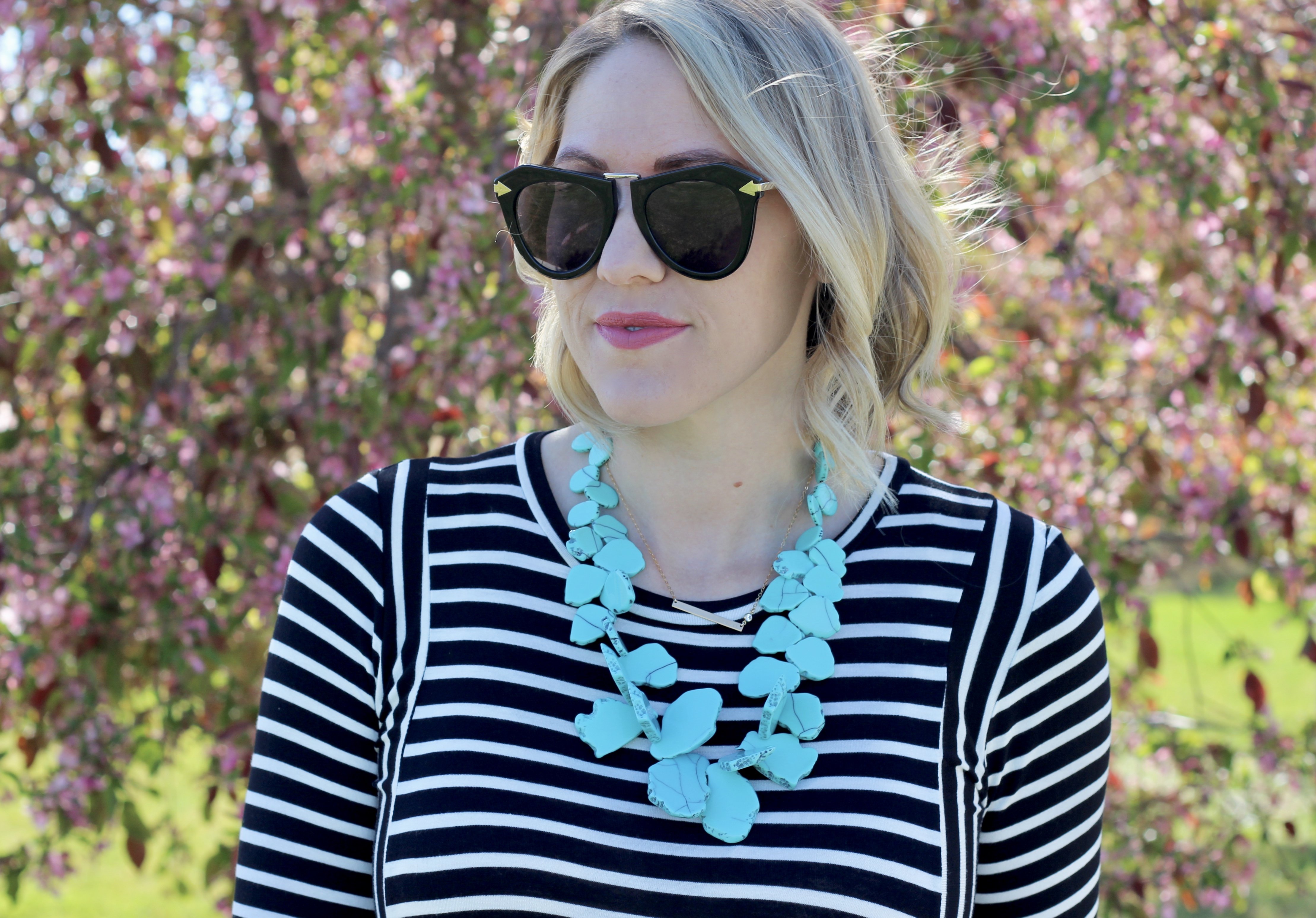 Baublebar seaglass turquoise bib necklace