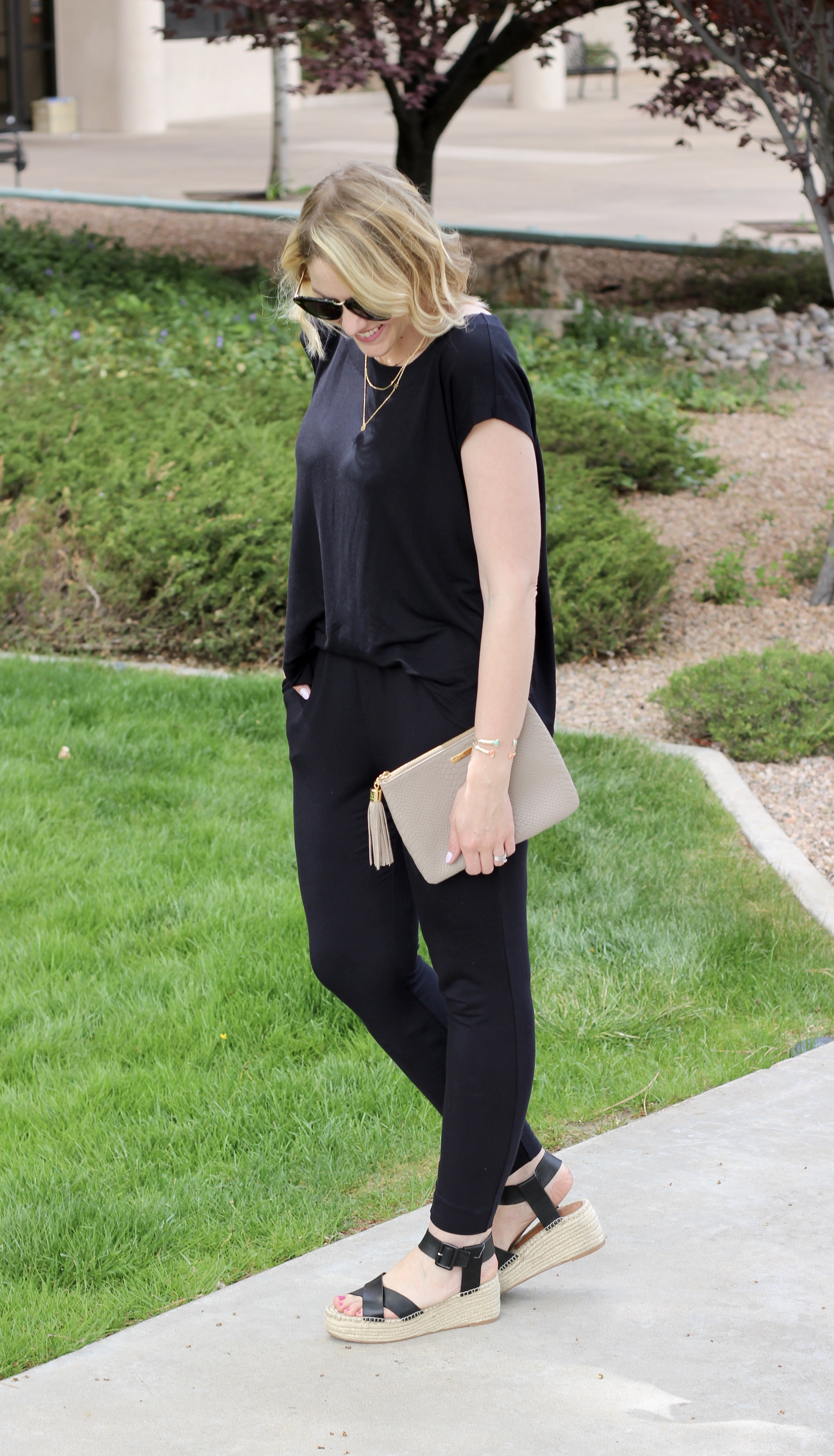 how to style a jumpsuit for spring
