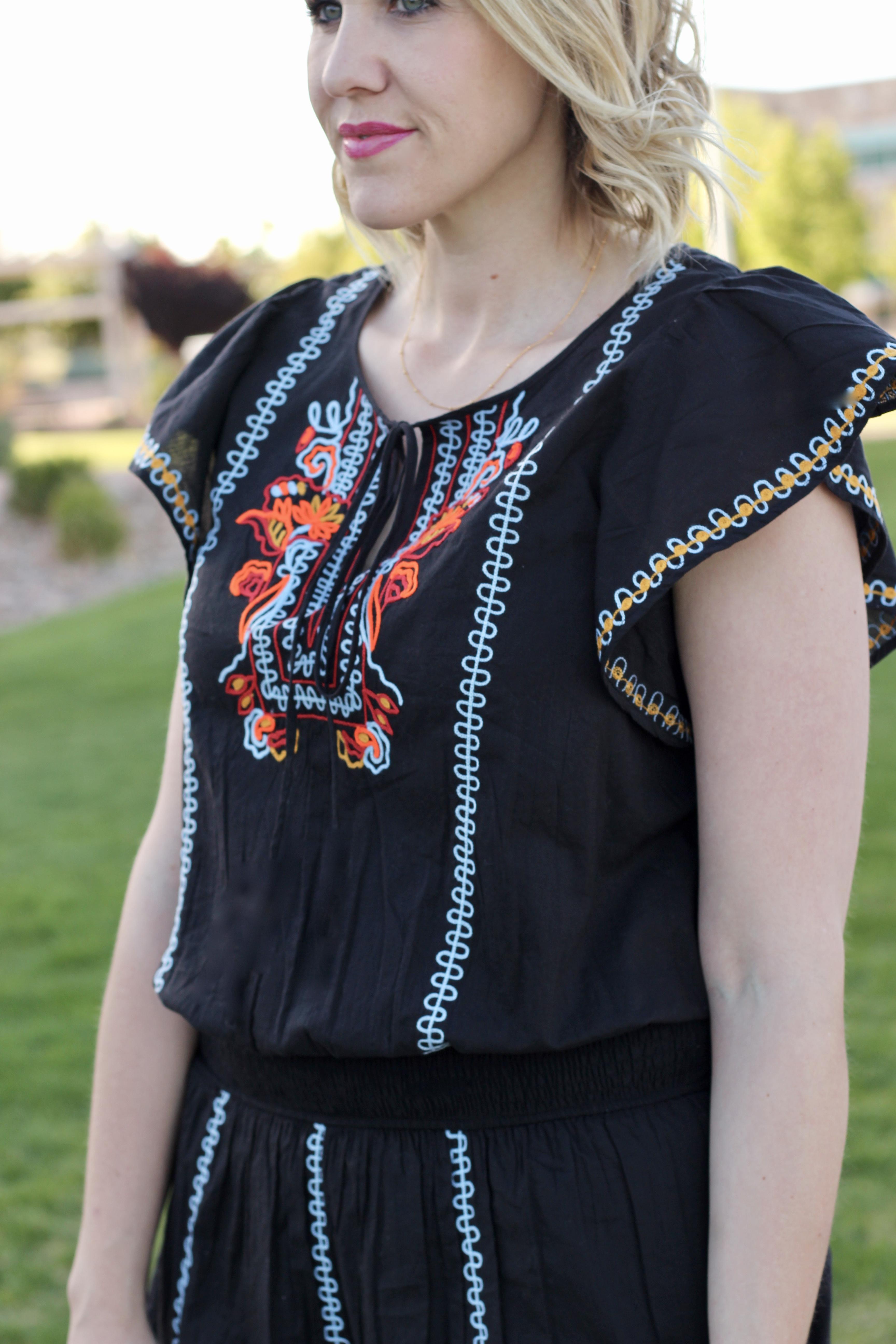 eShakti custom embroidered dress