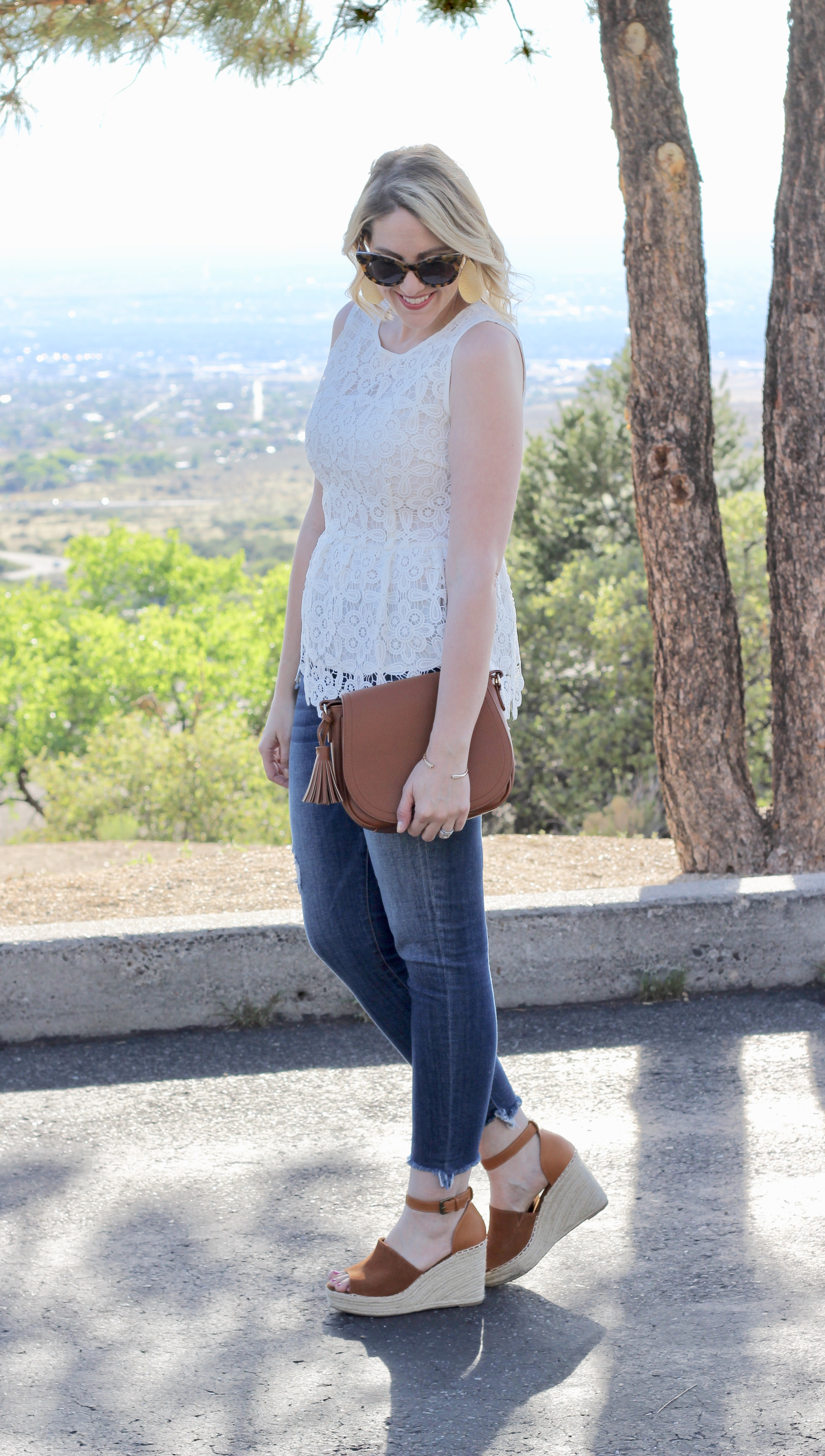 lace peplum top for summer