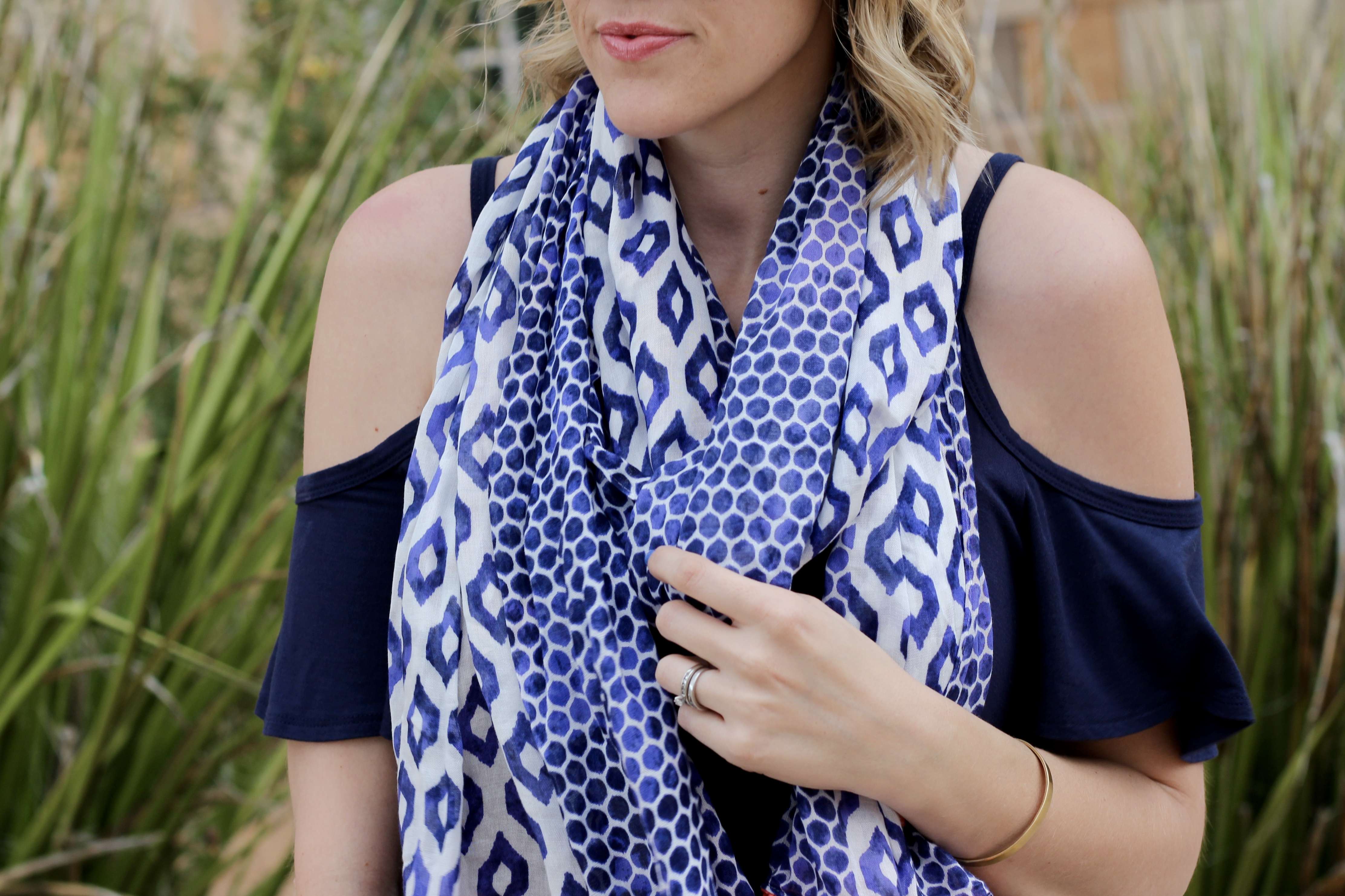 colorful lightweight scarf for summer