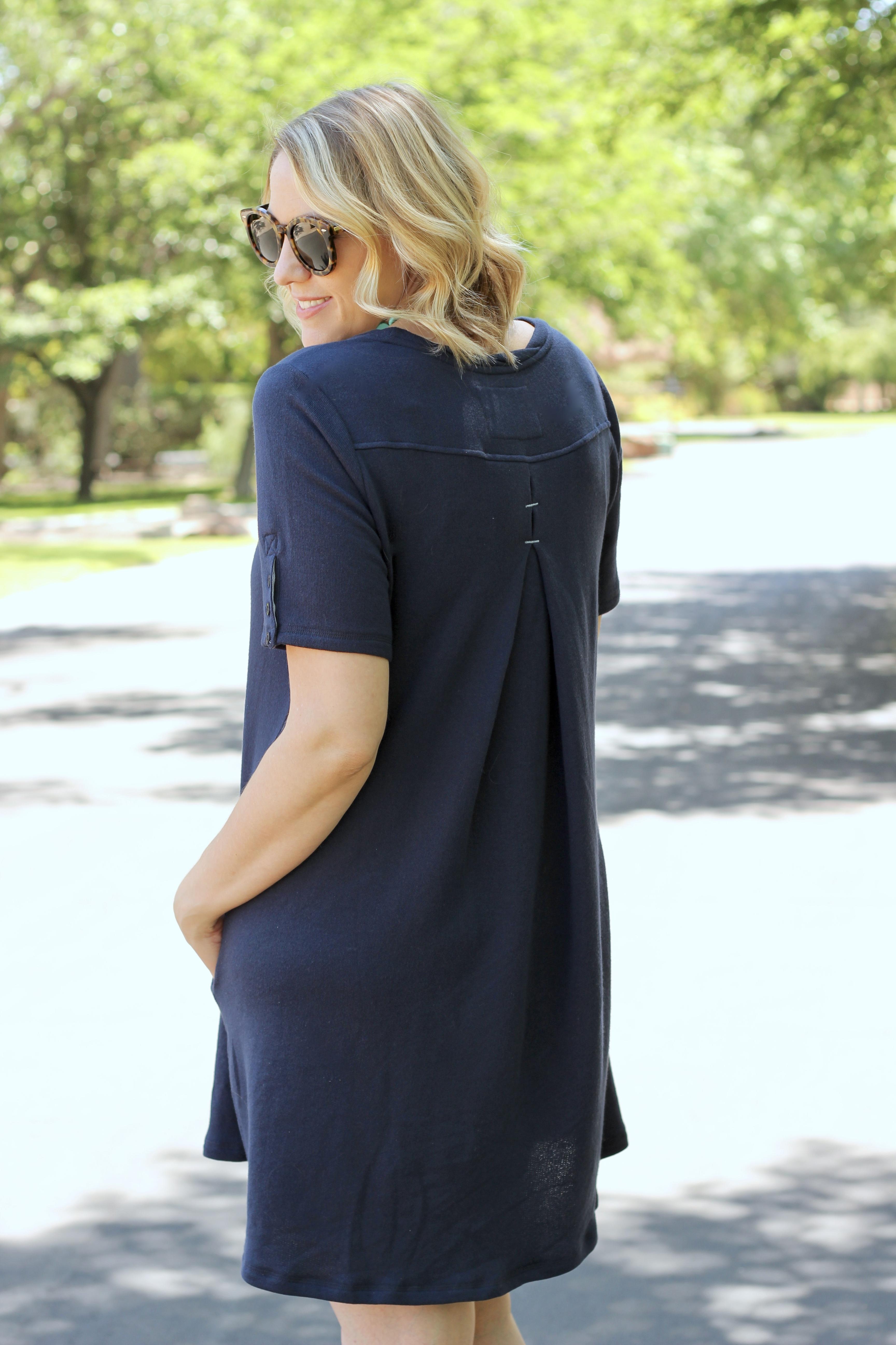 navy heidi dress