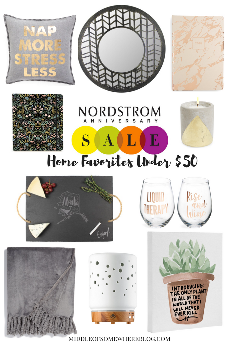 nordstrom anniversary sale home favorites under $50