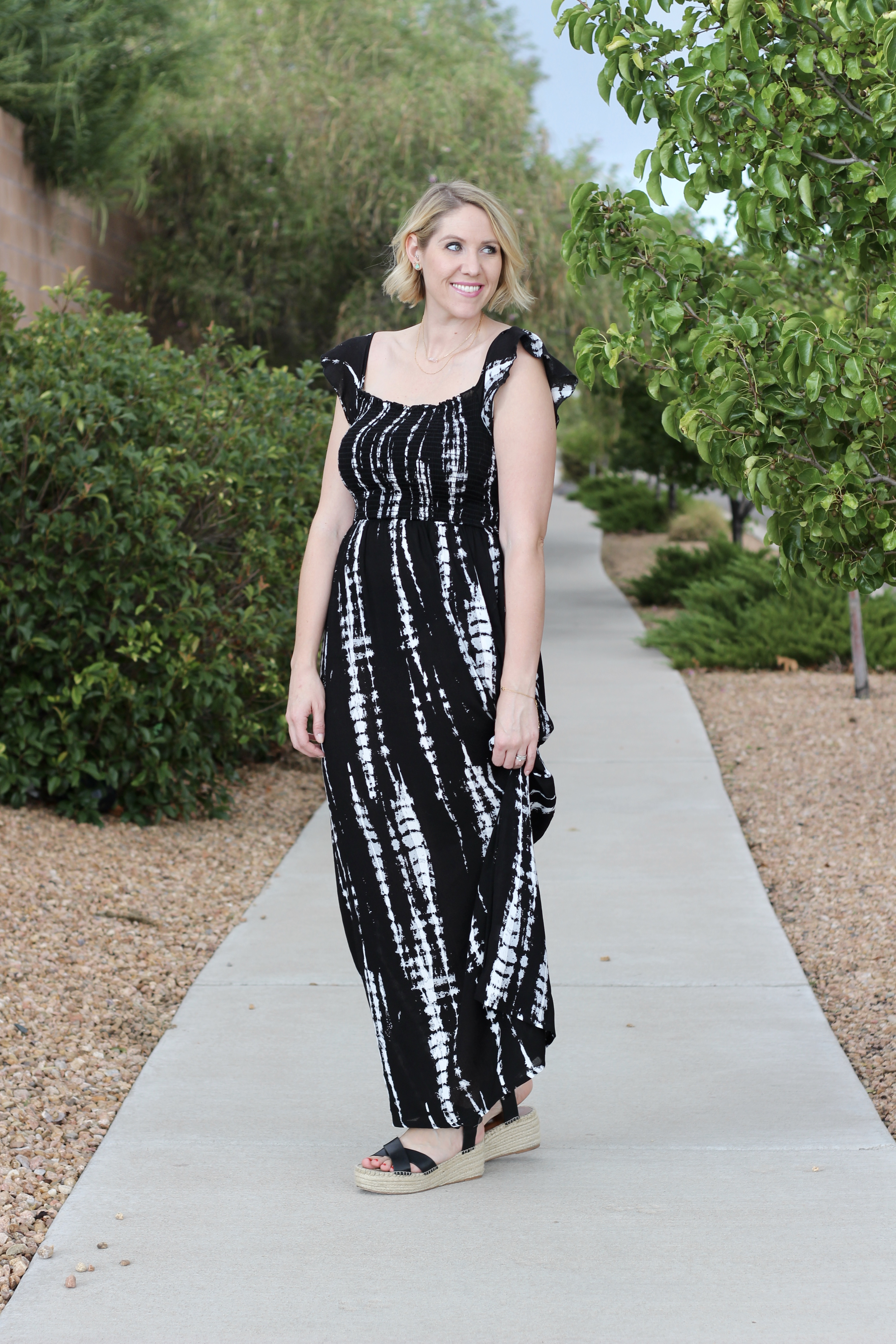 end of summer maxi dress outfit