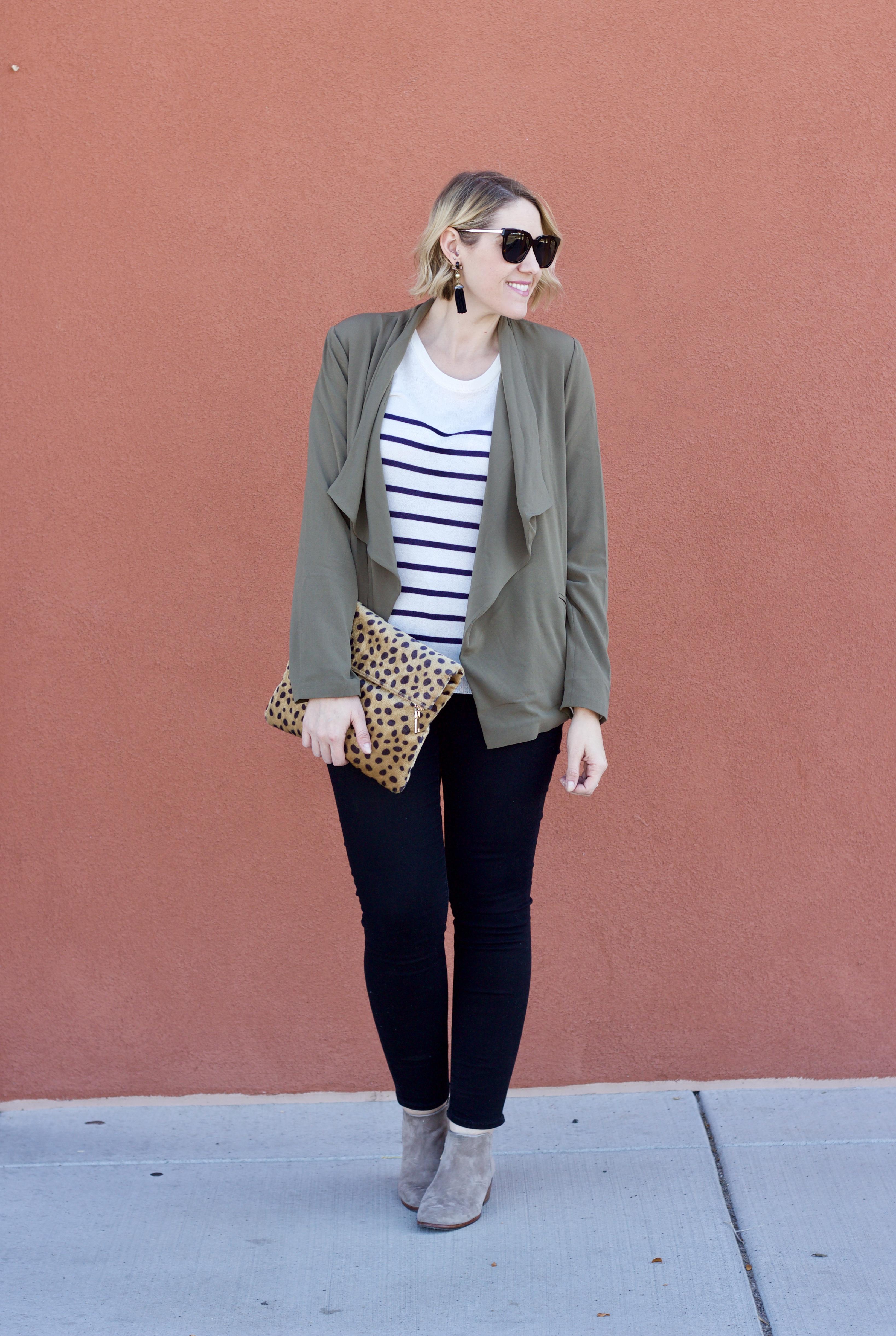 Tobi striped sweater for fall