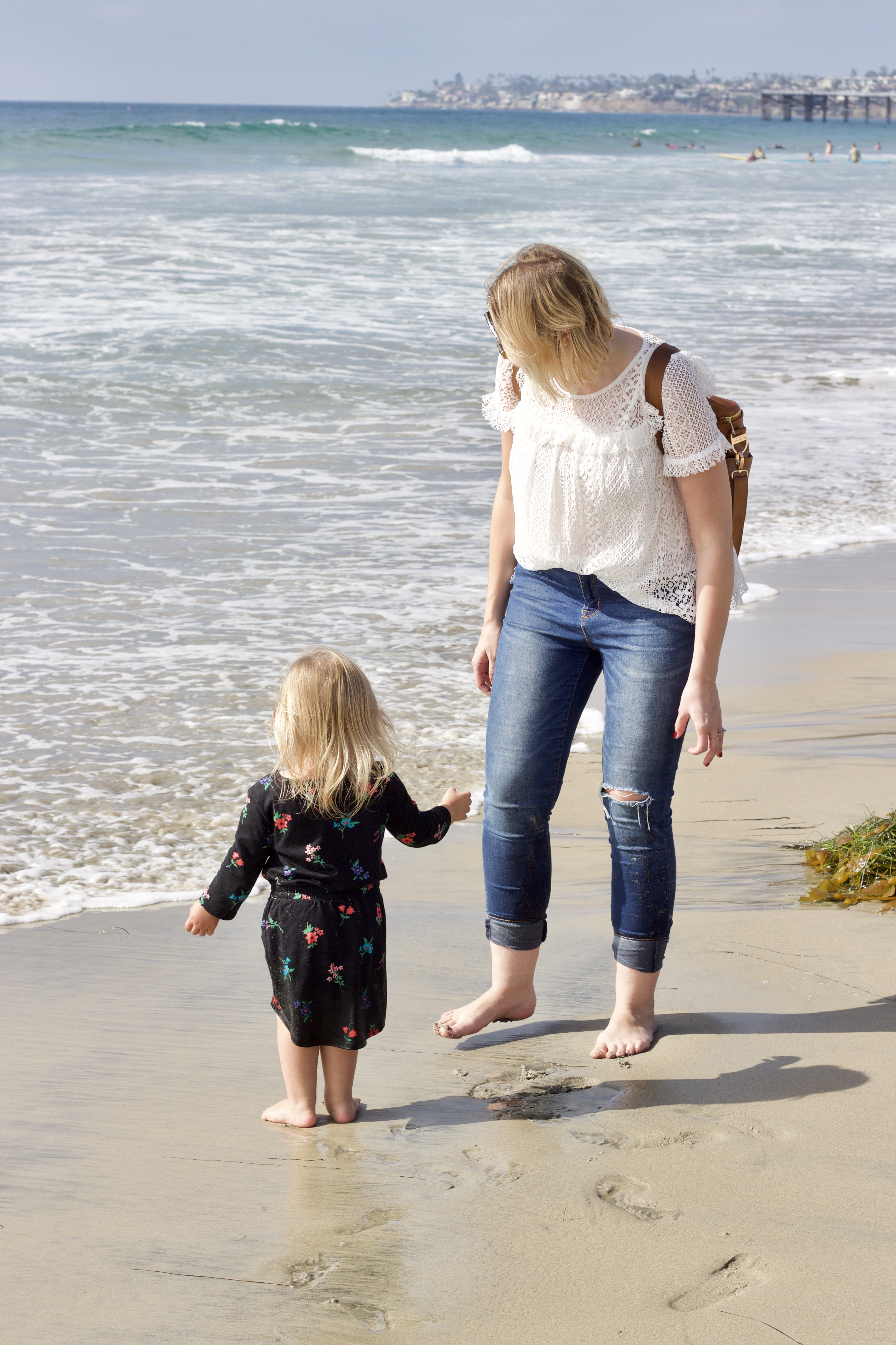 pacific beach with a toddler