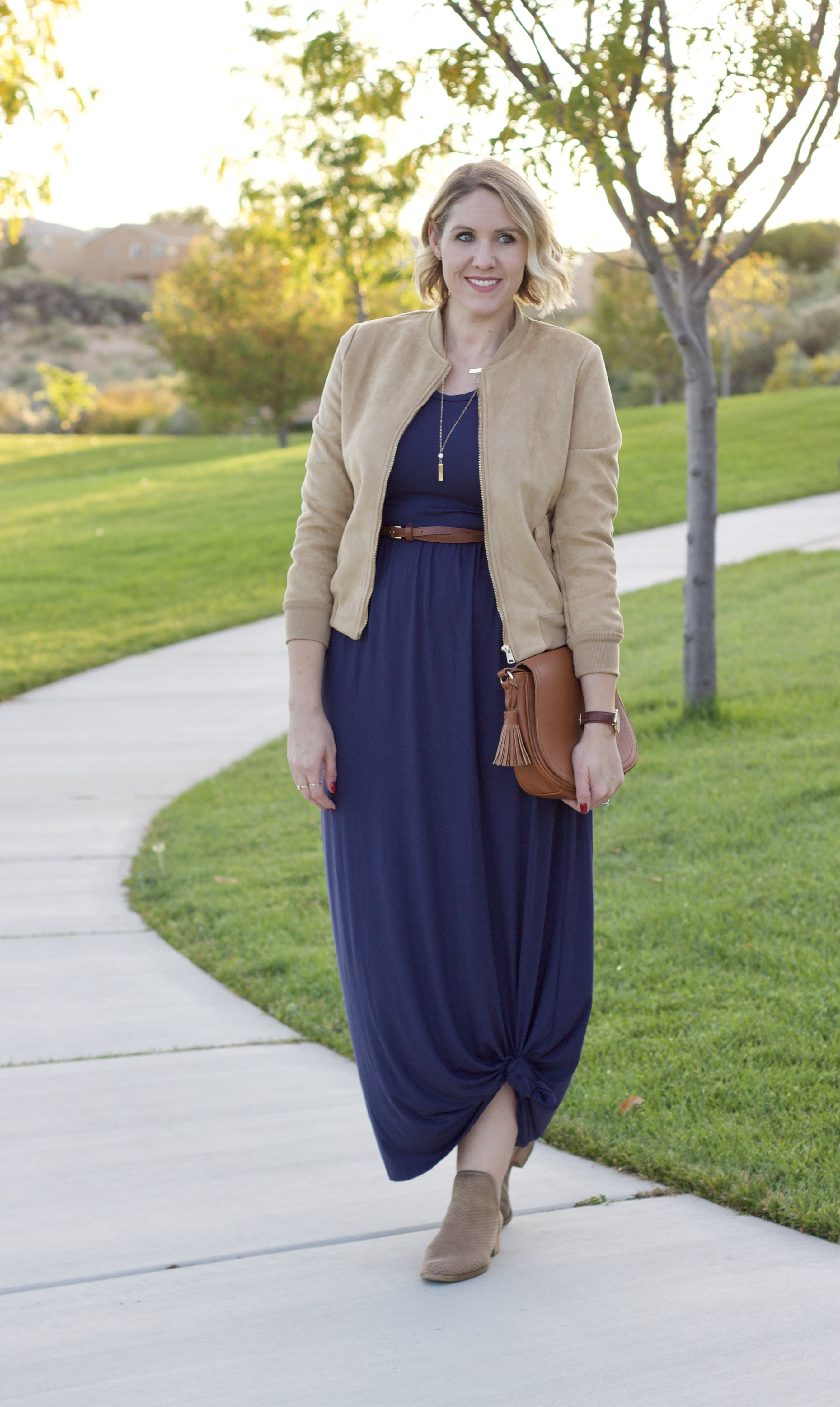 maxi dress fall outfit