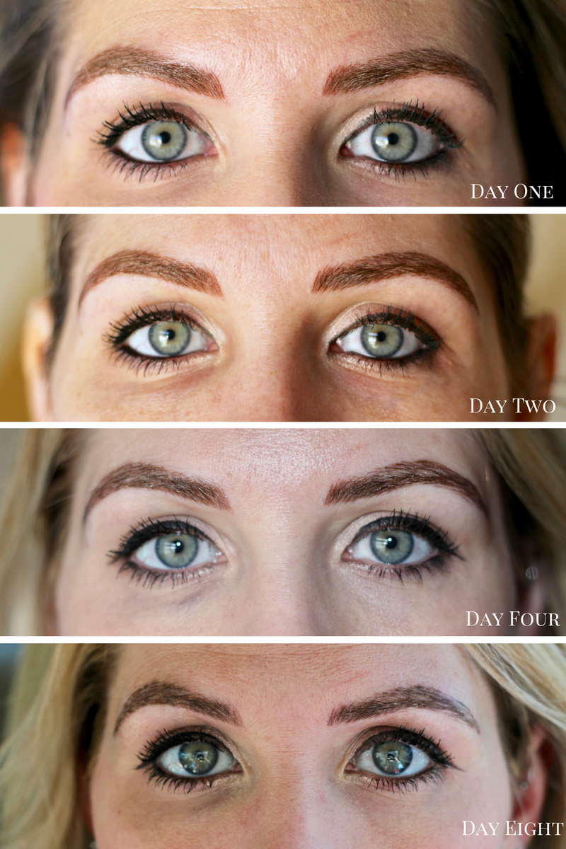 microblading healing process photos