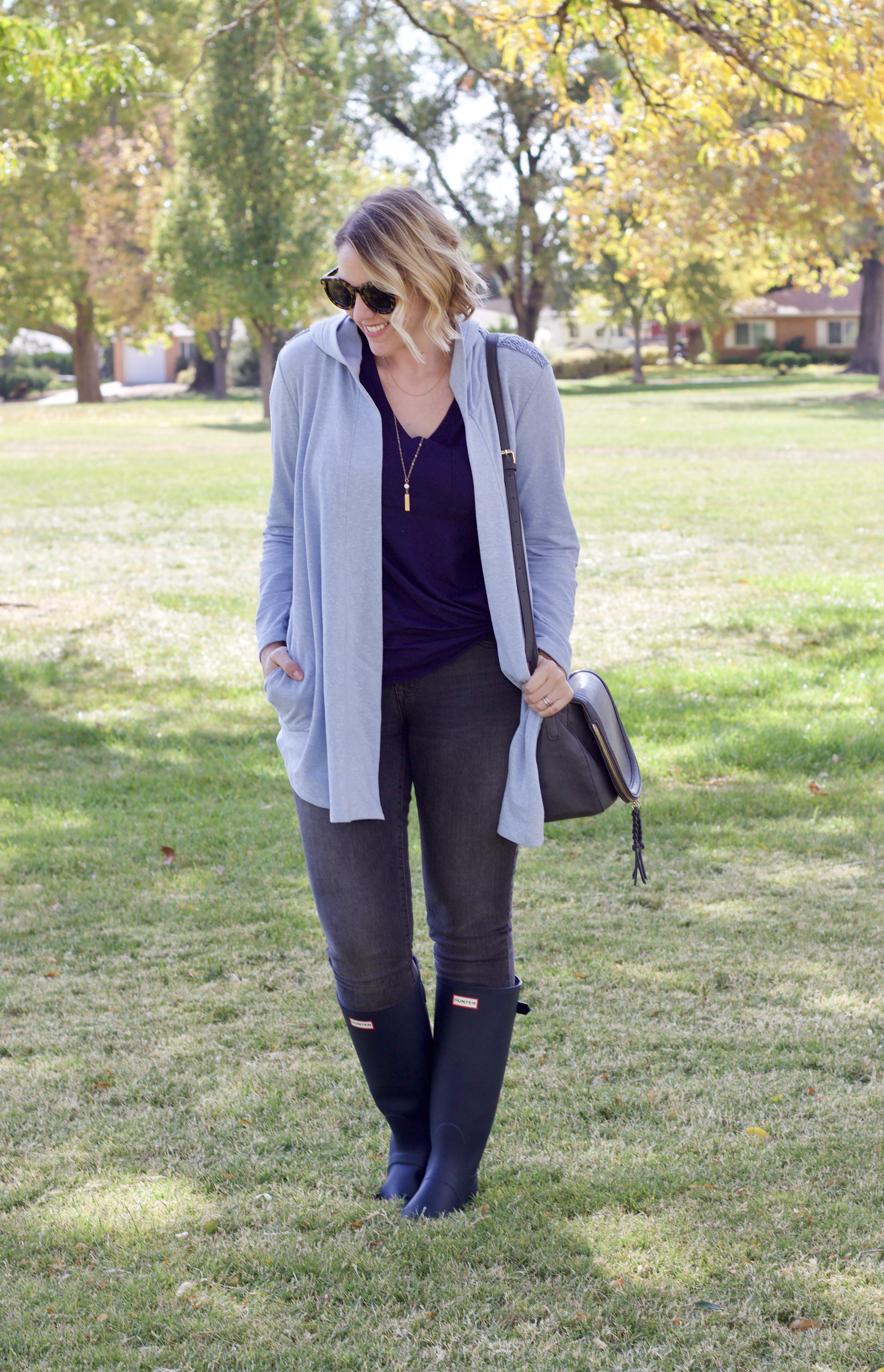 How to Style Hunter Boots For Fall