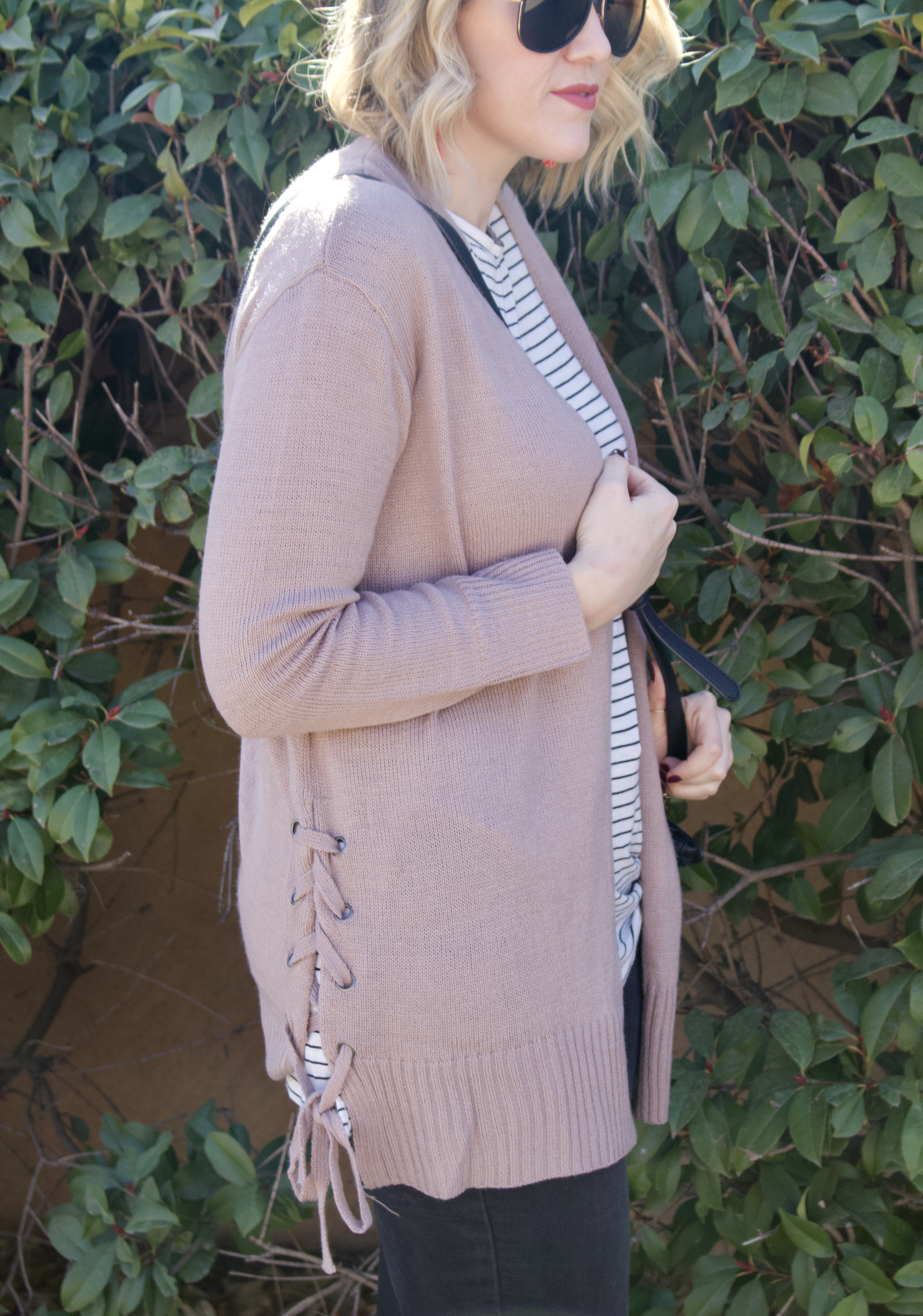 side tie cardigan #cardigan #layers #momstyle