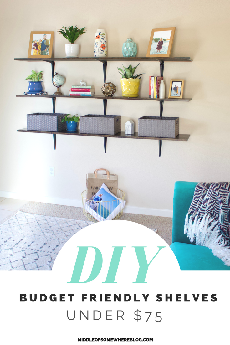 affordable diy shelves #homedecor #shelving #diyshelves