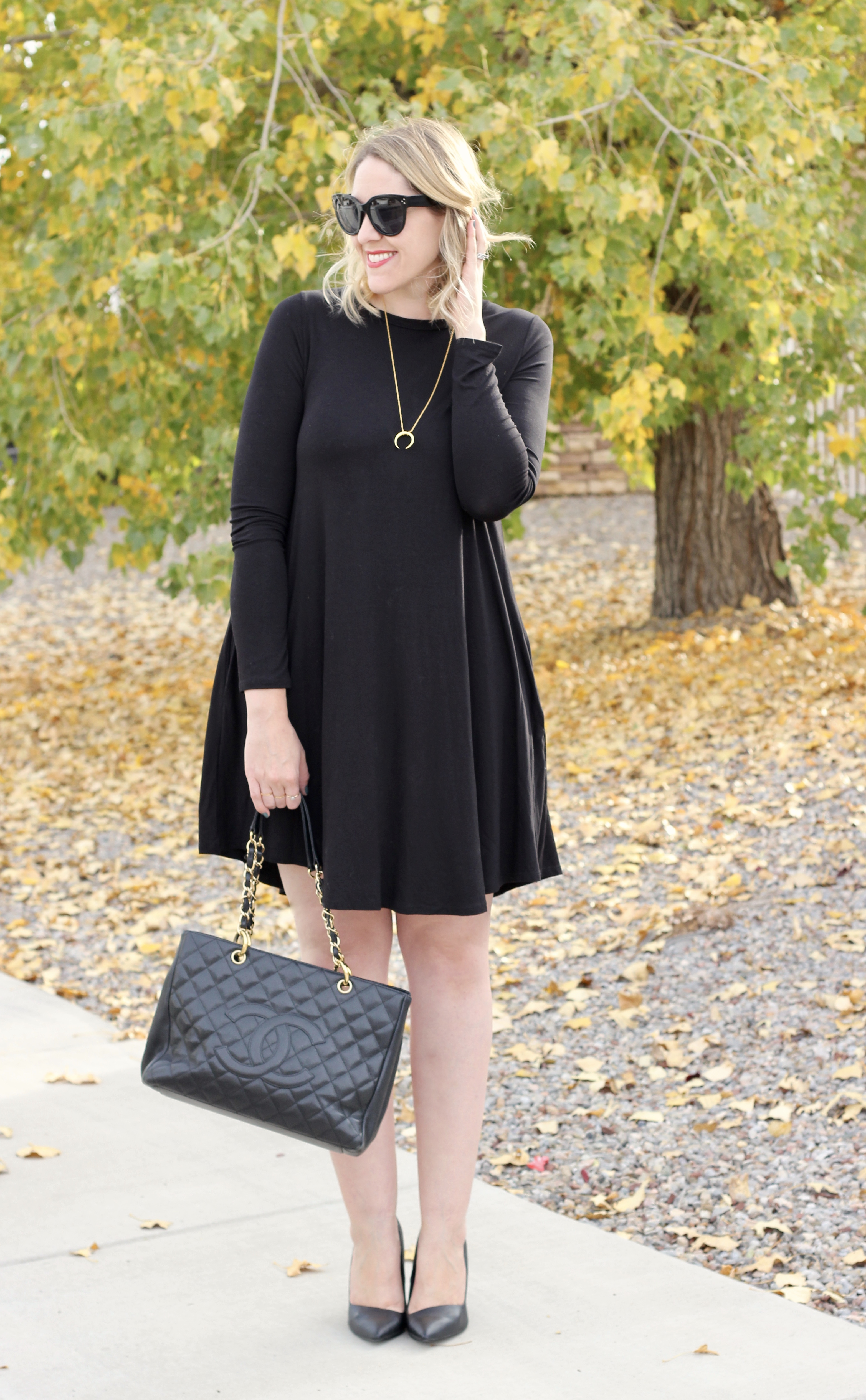 little black dress for tall girls #tallfashion #lbd #littleblackdress #chanel