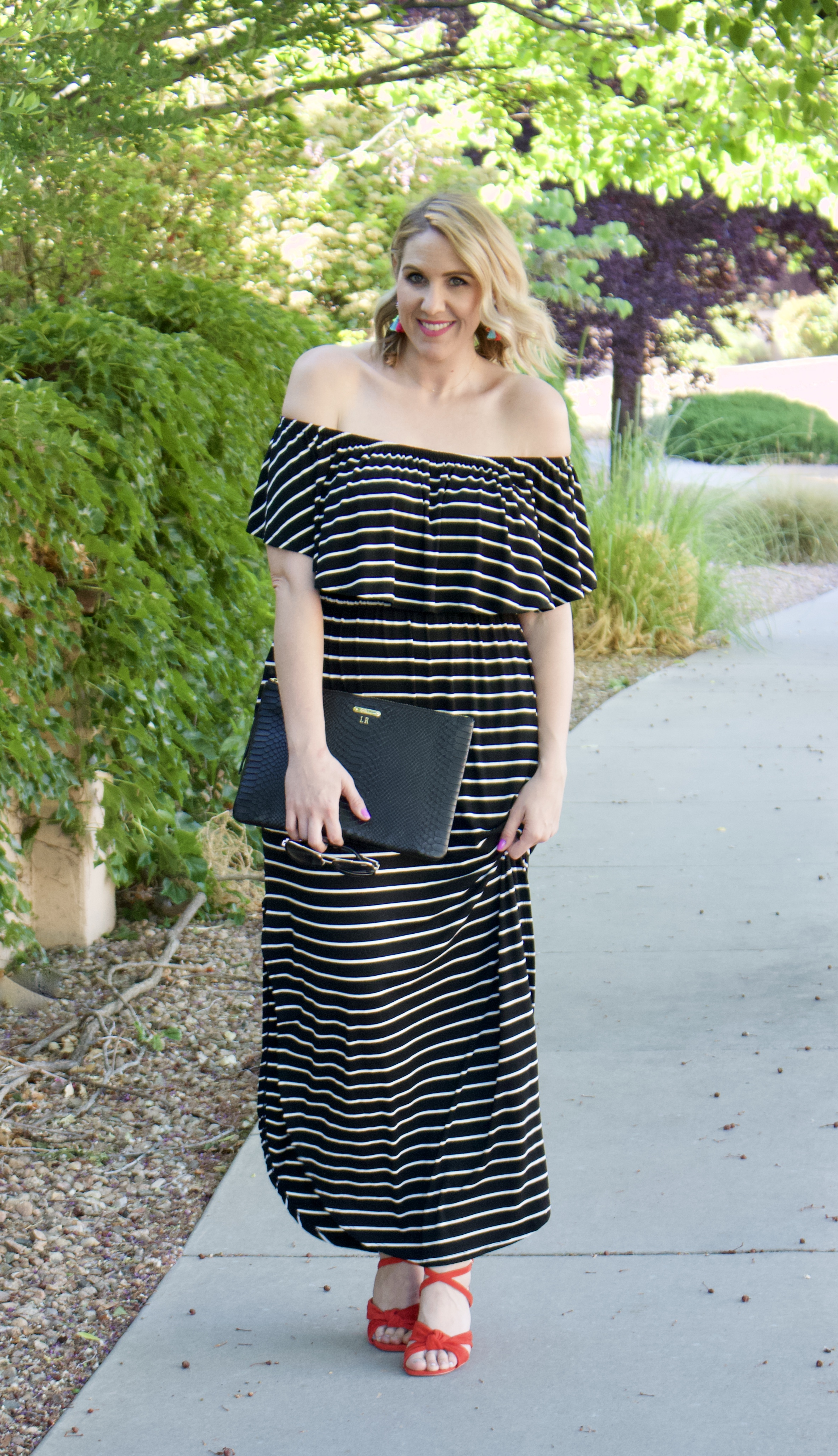 cute maxi dress for summer #summerstyle #fashionbloger #solesociety #giginewyork