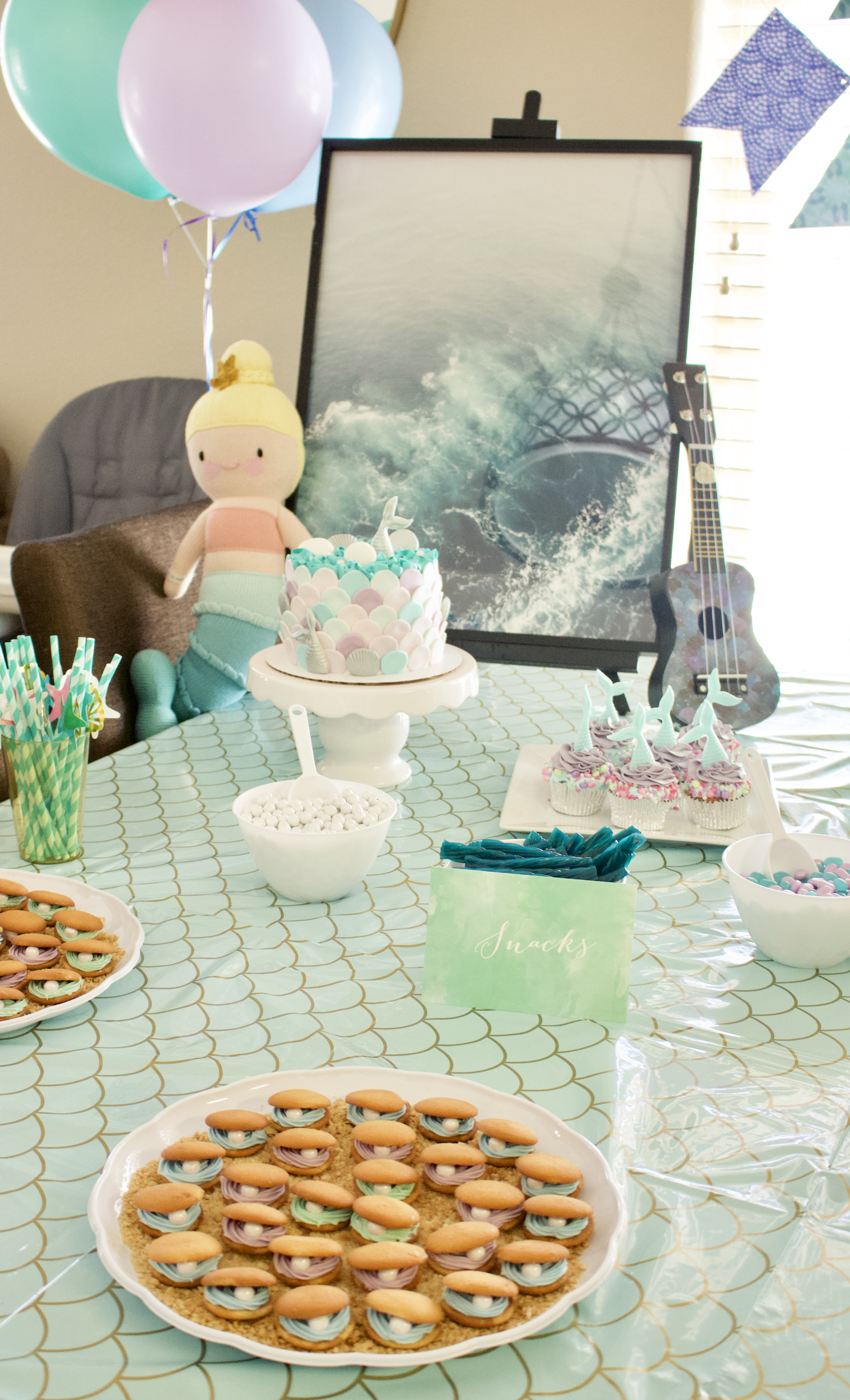 mermaid party diy decor #birthdayparty #kidsbirthday #mermaidbirthday #mermaidparty