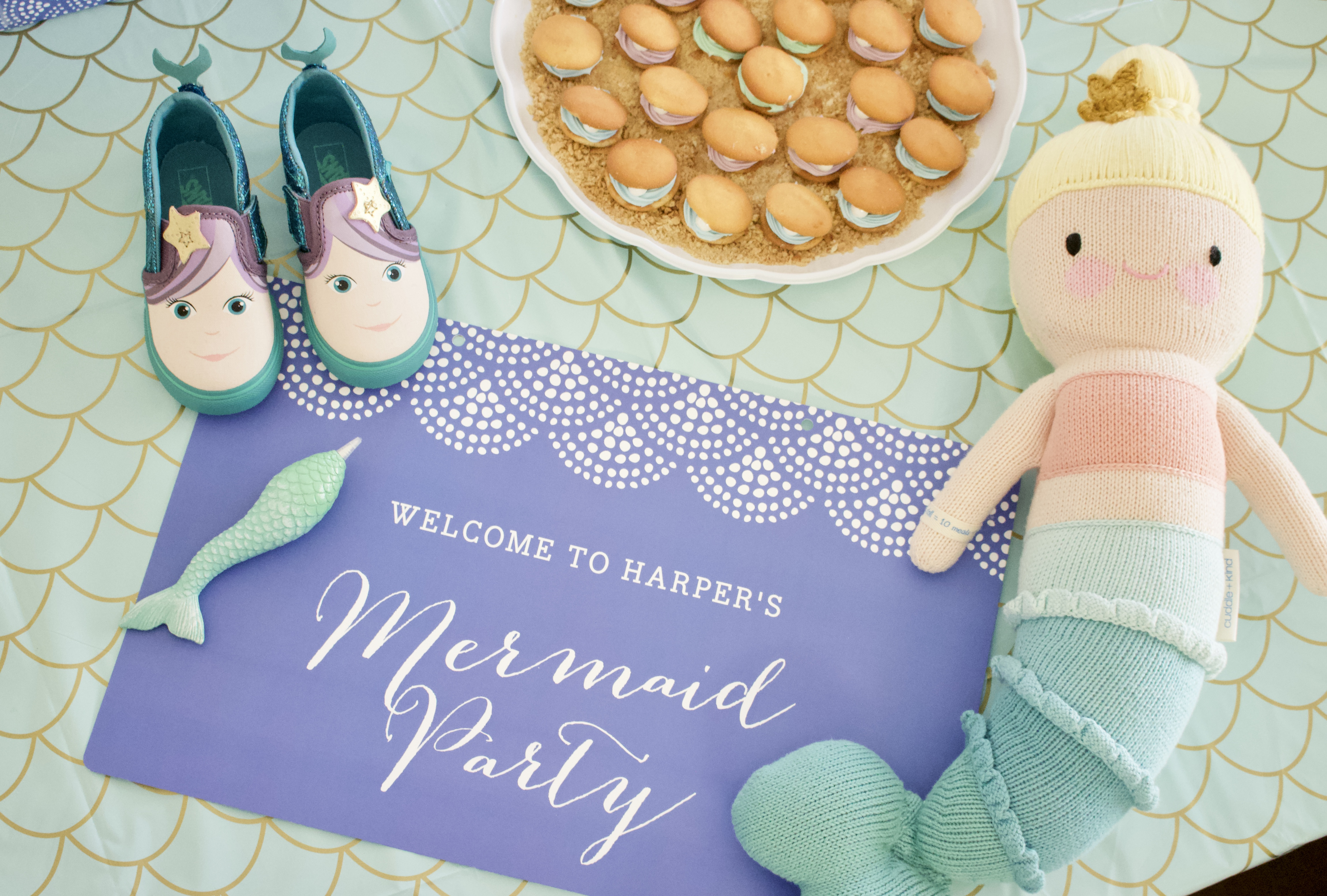 mermaid themed 3rd birthday party #mermaid #mermaidparty #birthdayparty #partydecor