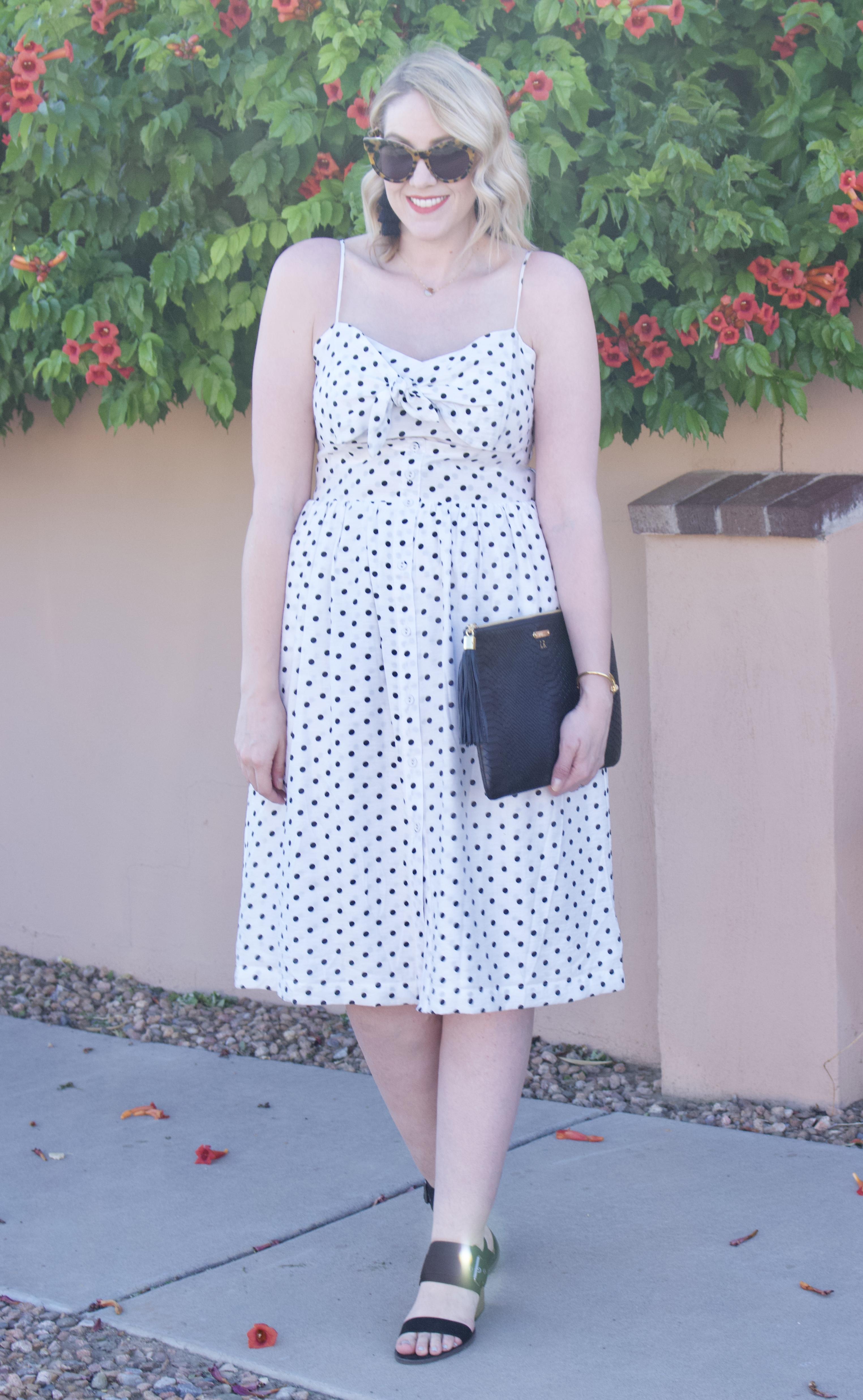 white polka dot midi dress target style #targetstyle #mididress #summerstyle
