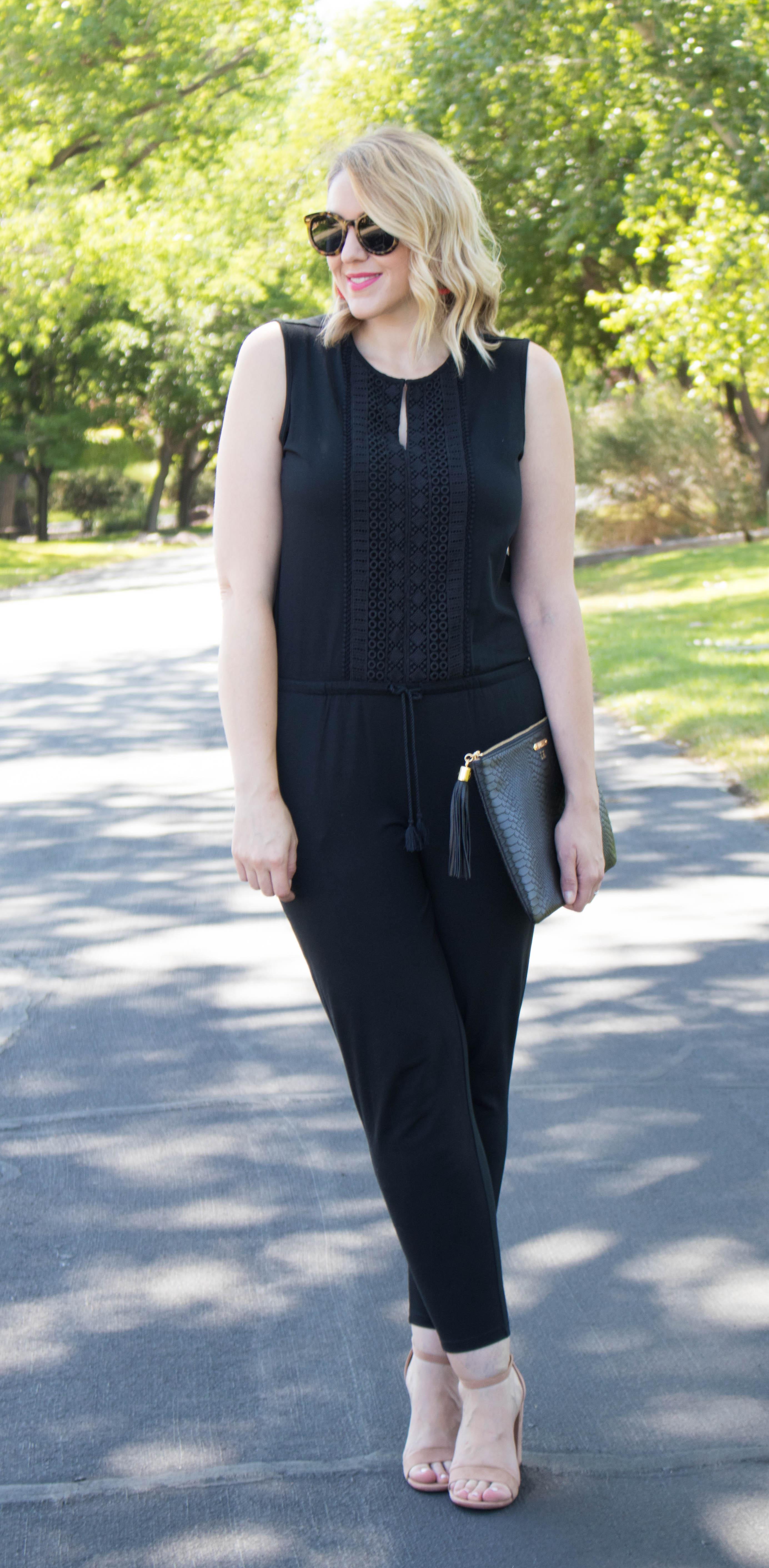 lauren ralph lauren skinny jumpsuit #macys #jumpsuit #ralphlauren
