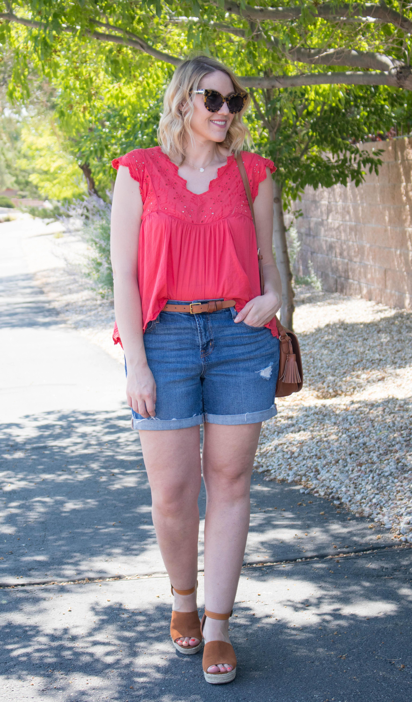 best shorts for tall and curvy women #tallfashion #shorts #summerfashion