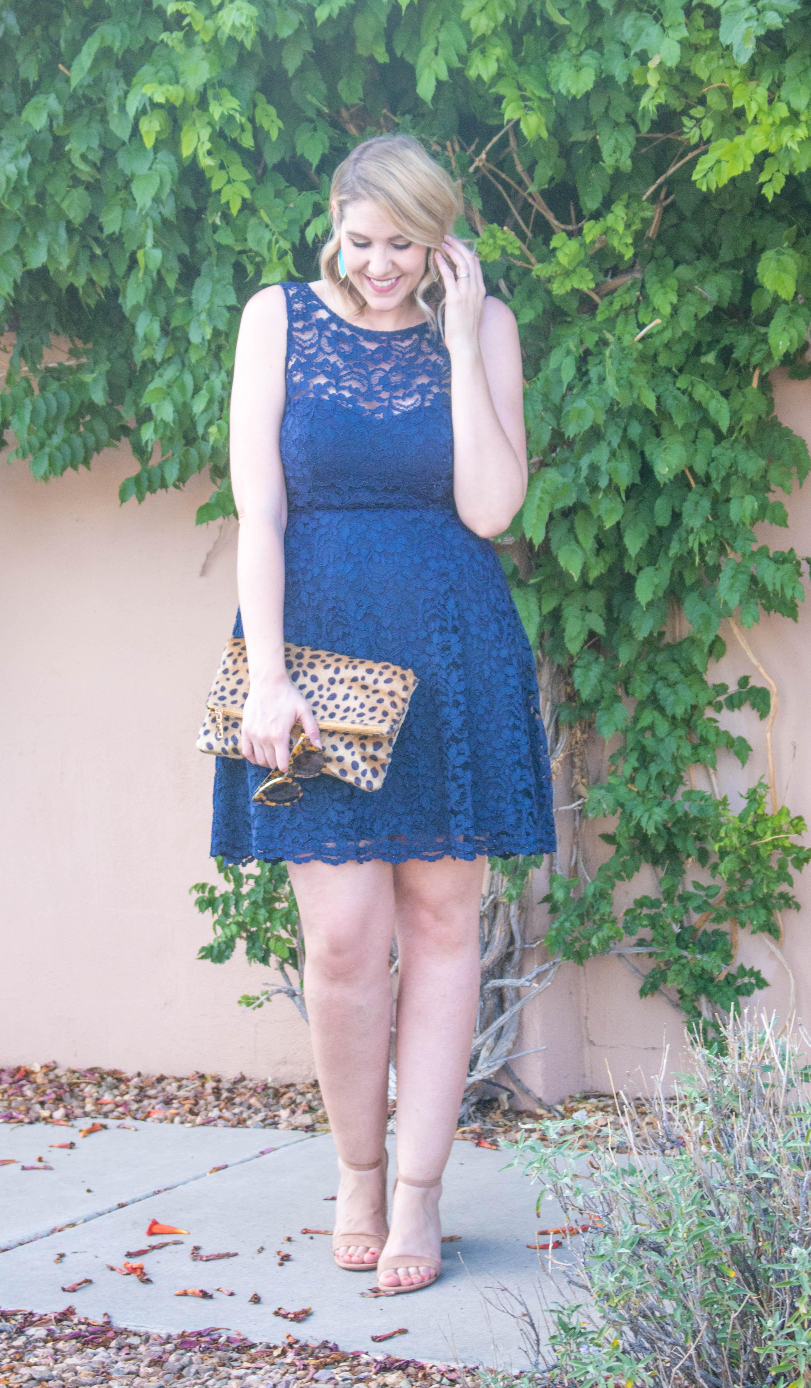 wedding guest outfit for summer #wedding #weddingguest #lacedress