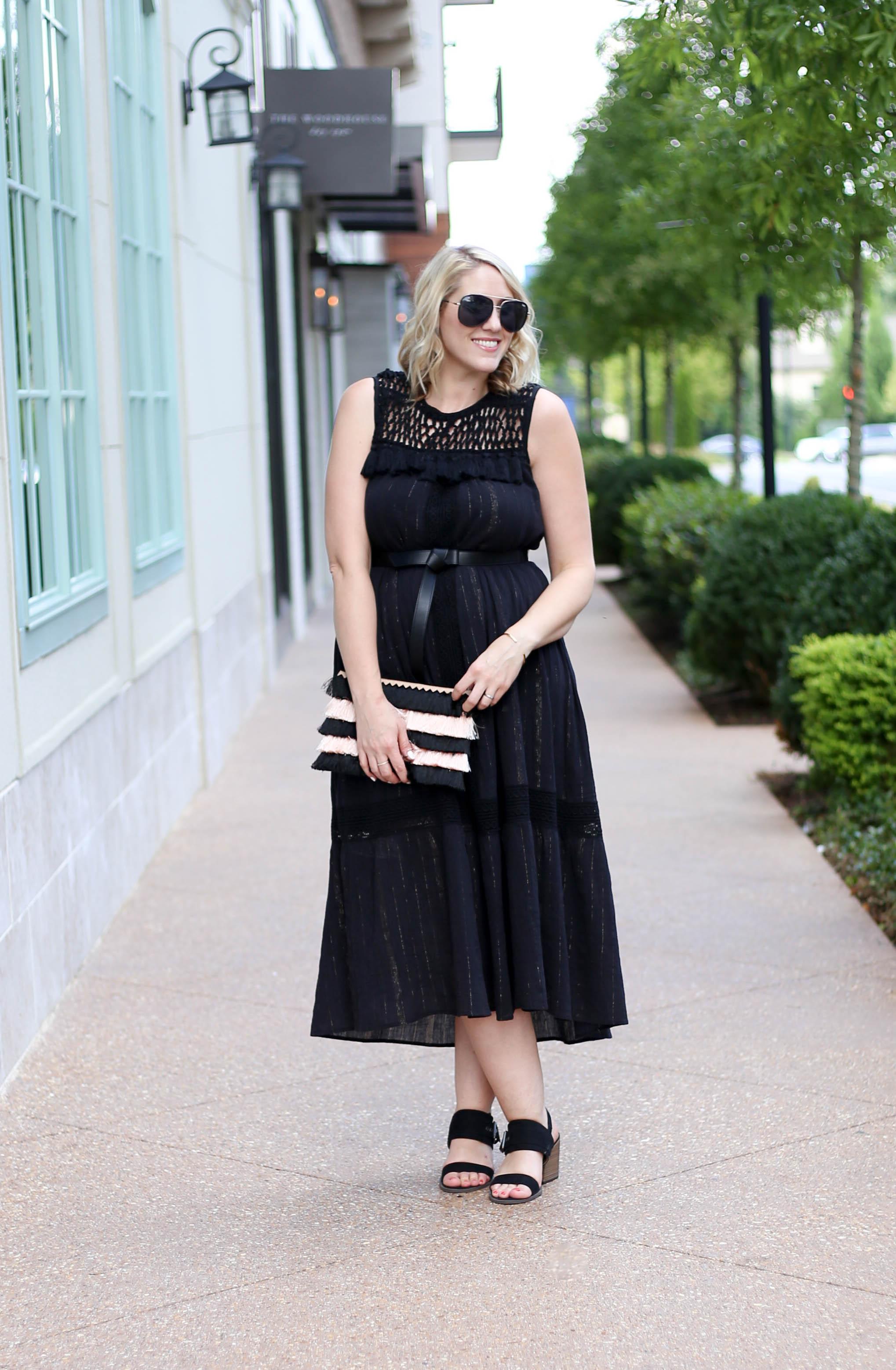 black boho dress anthropologie #blackdress #lbd #maxidress