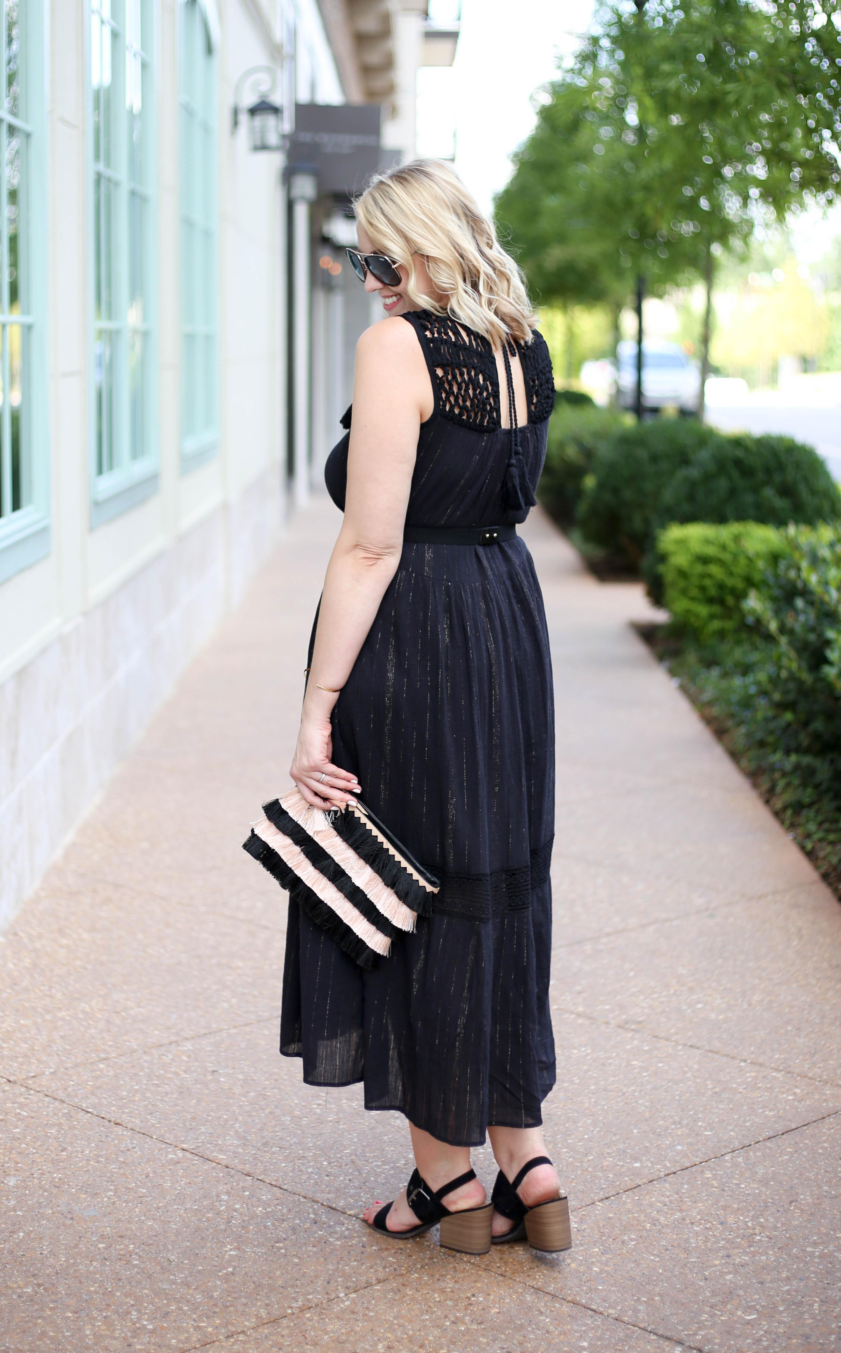 black crochet maxi dress #bohostyle #crochet #styleblogger