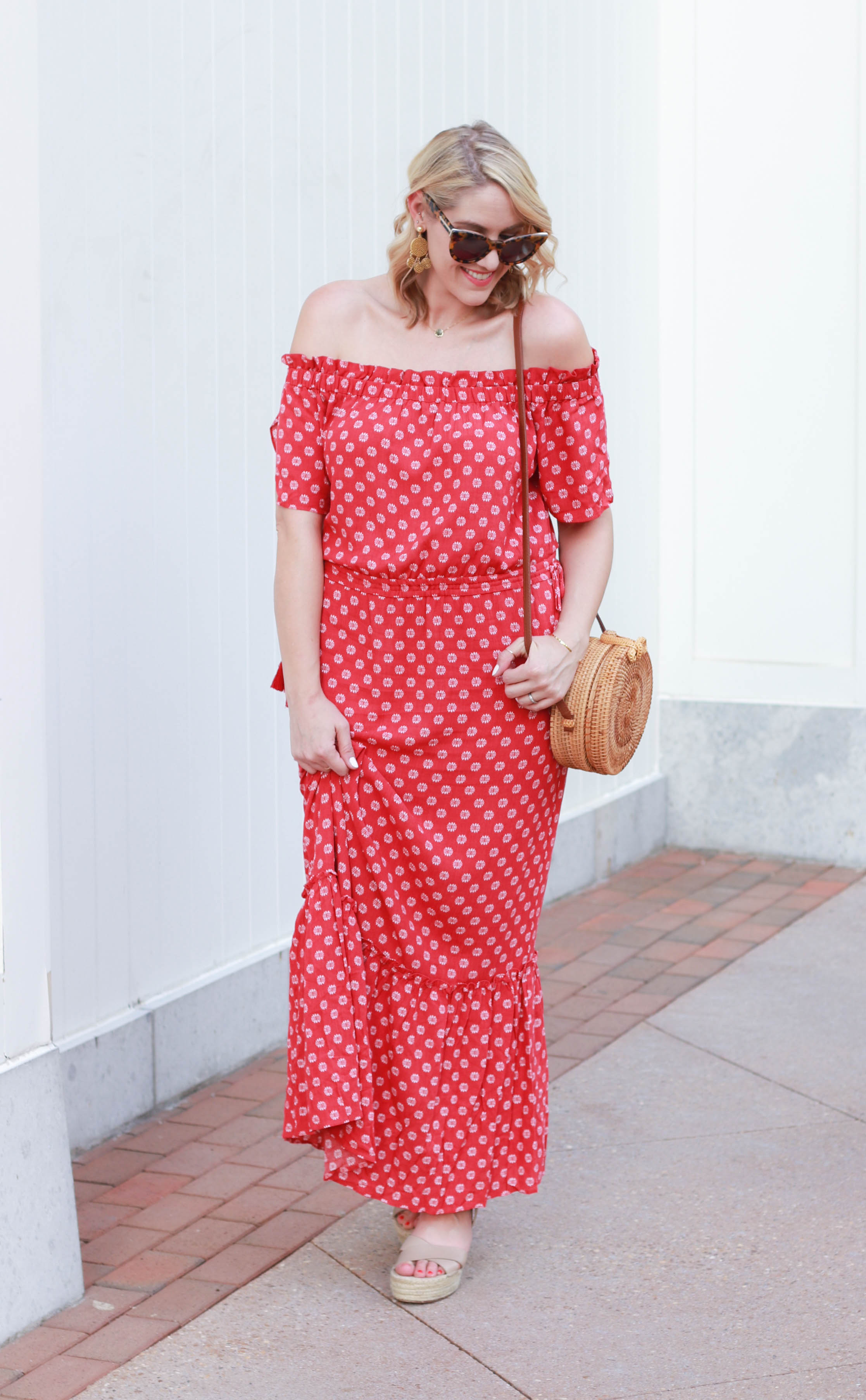 floral print boho maxi dress #summerfashion #bohostyle #bohodress #maxidress