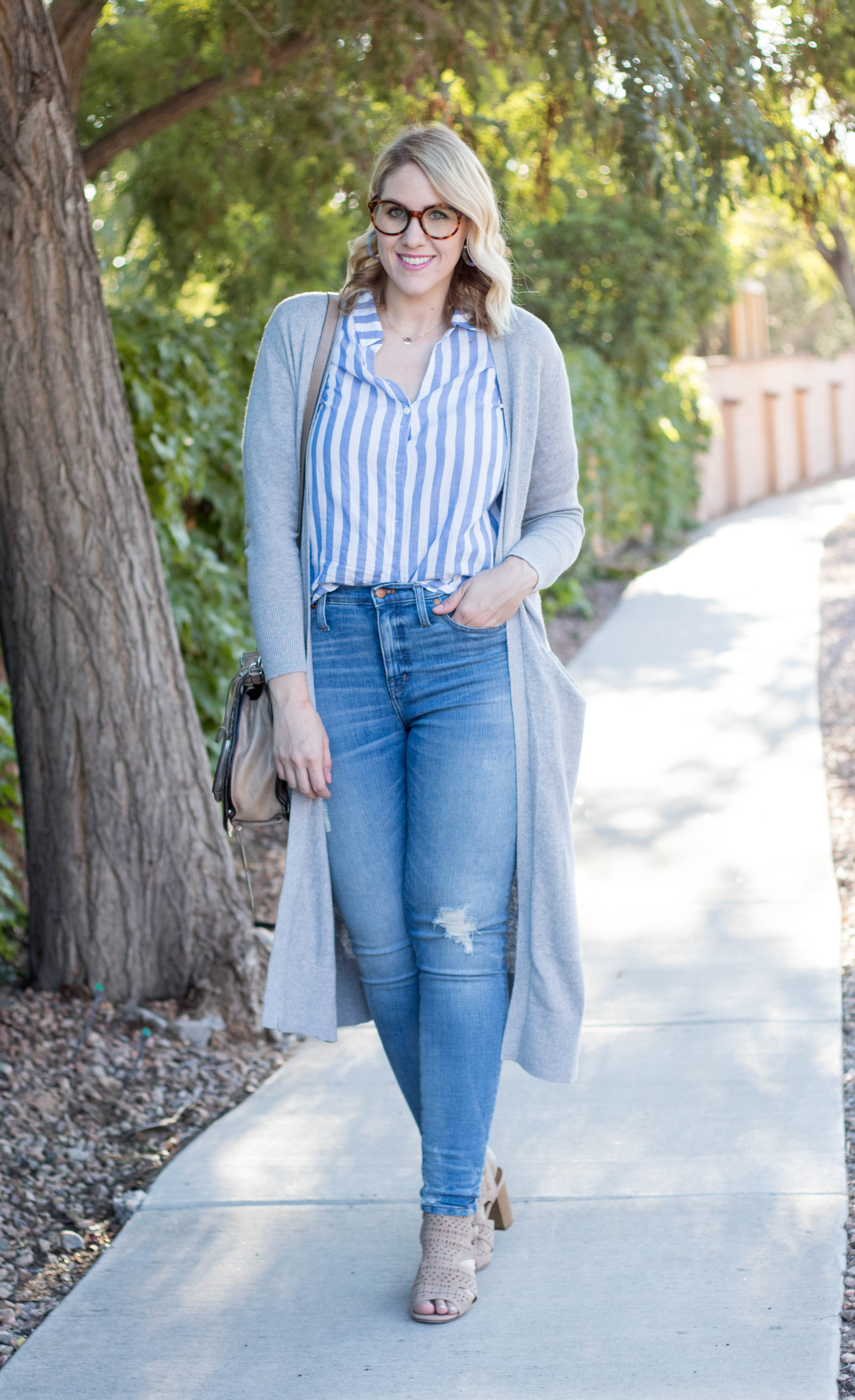 how to wear stripes for fall #jcrew #everydaymadewell #fallfashion