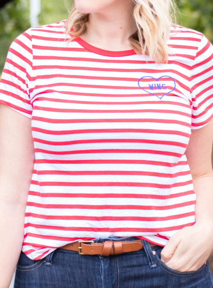 Graphic Striped Tee: The Weekly Style Edit