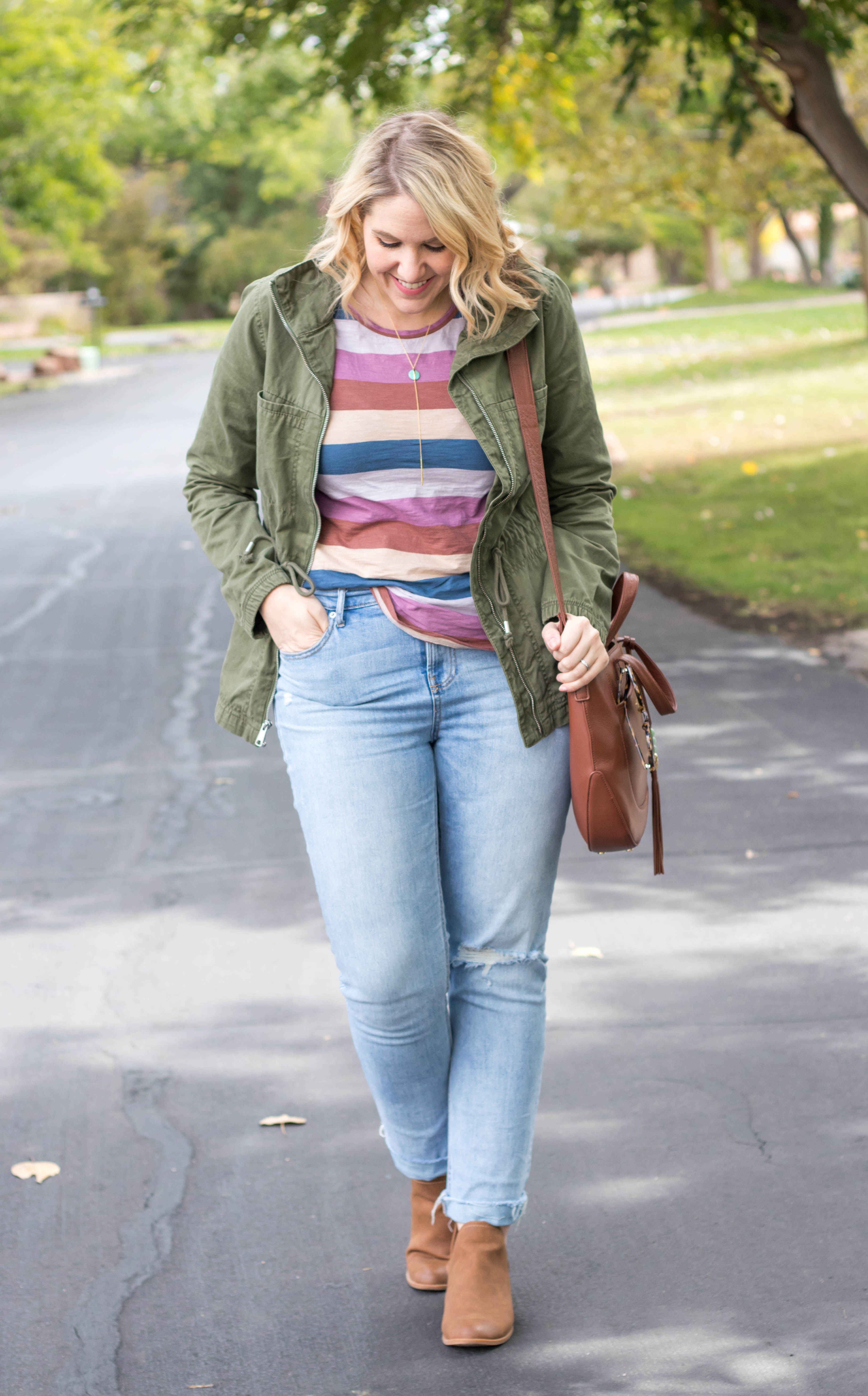 cute fall casual outfit layers #madewell #oldnavystyle #anorakjacket