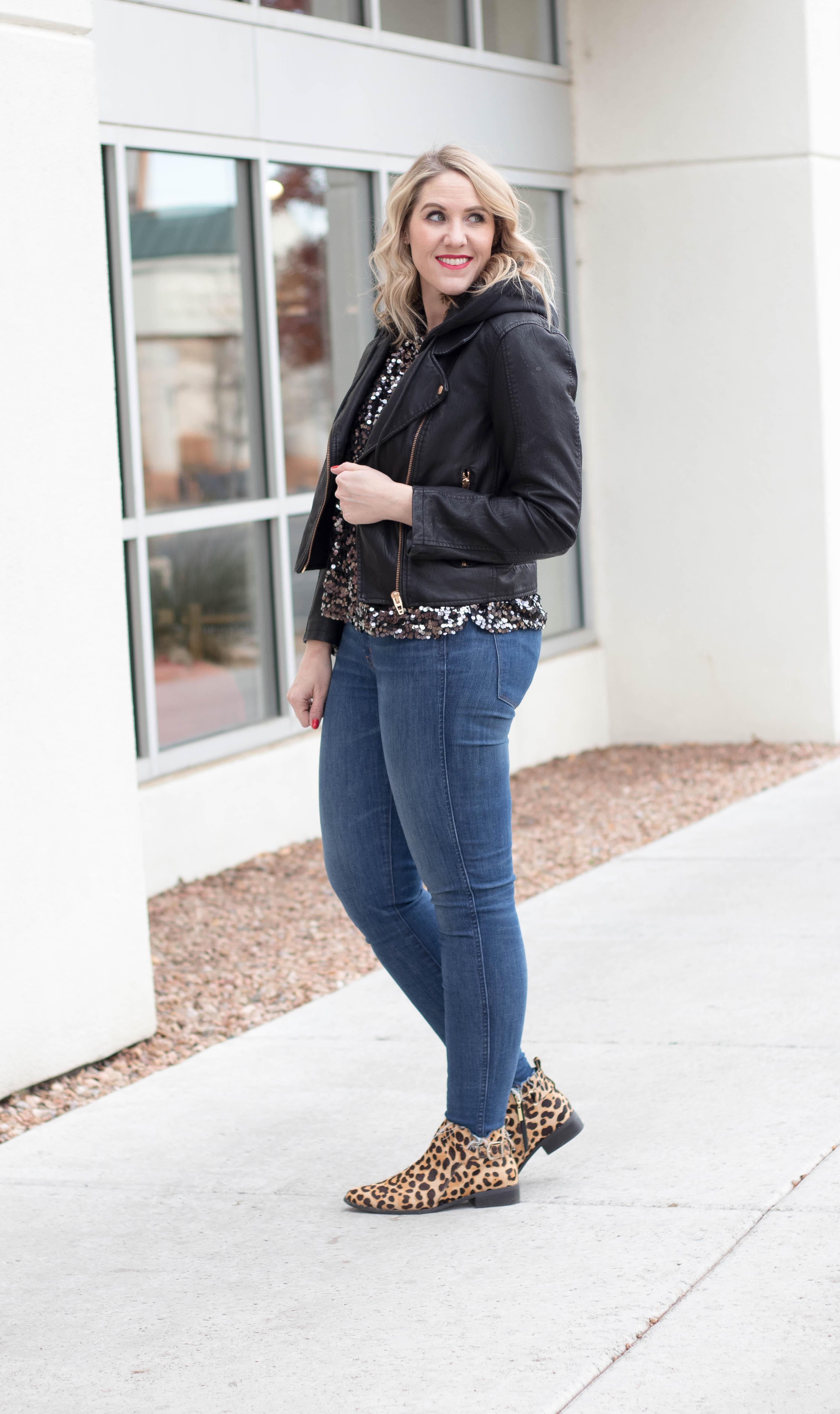how to wear leopard boots #leopardboots #blanknycleather #winterstyle