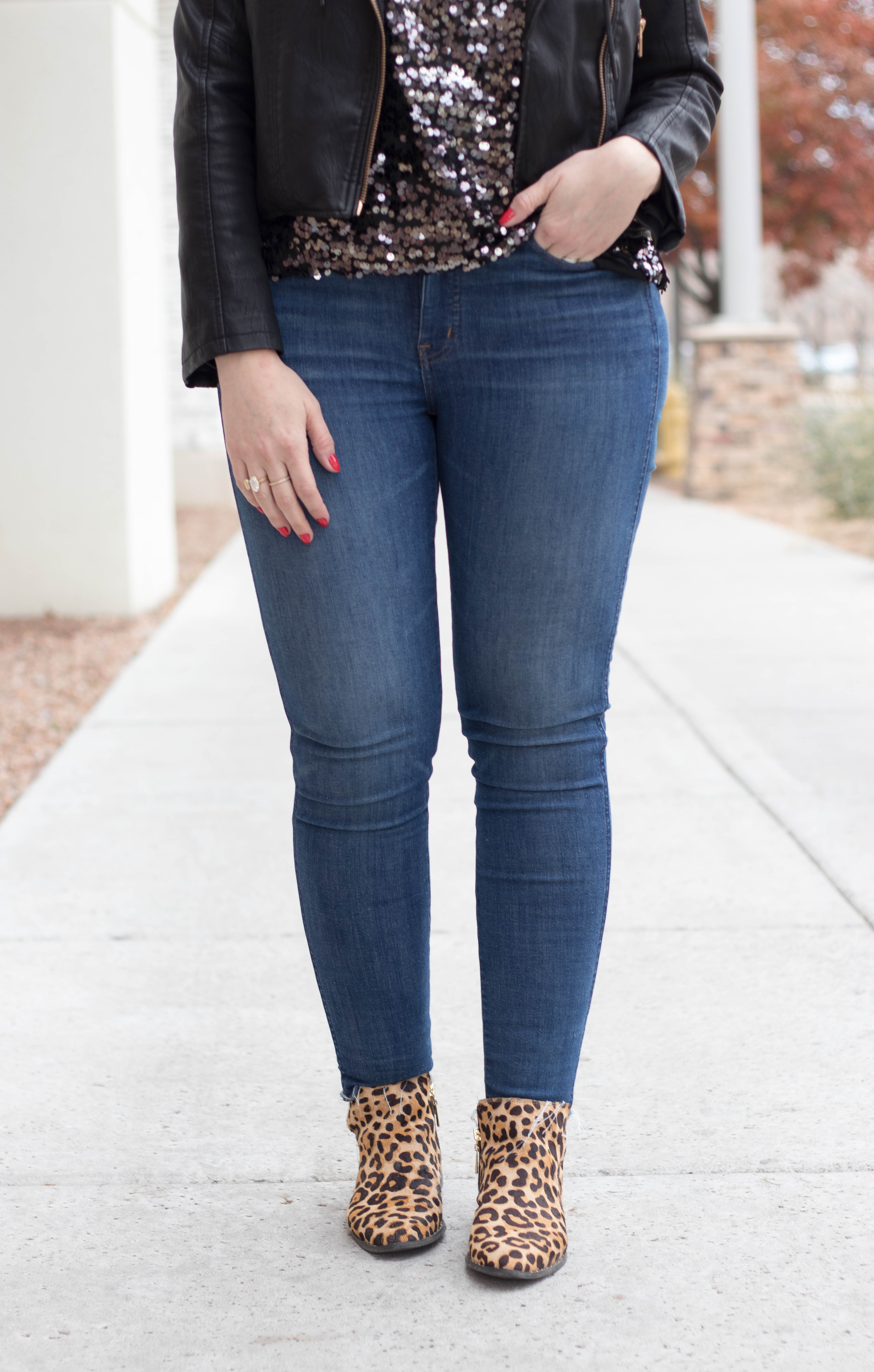 Steven leopard ankle boots #ankleboots #madewelljeans #tallfashion