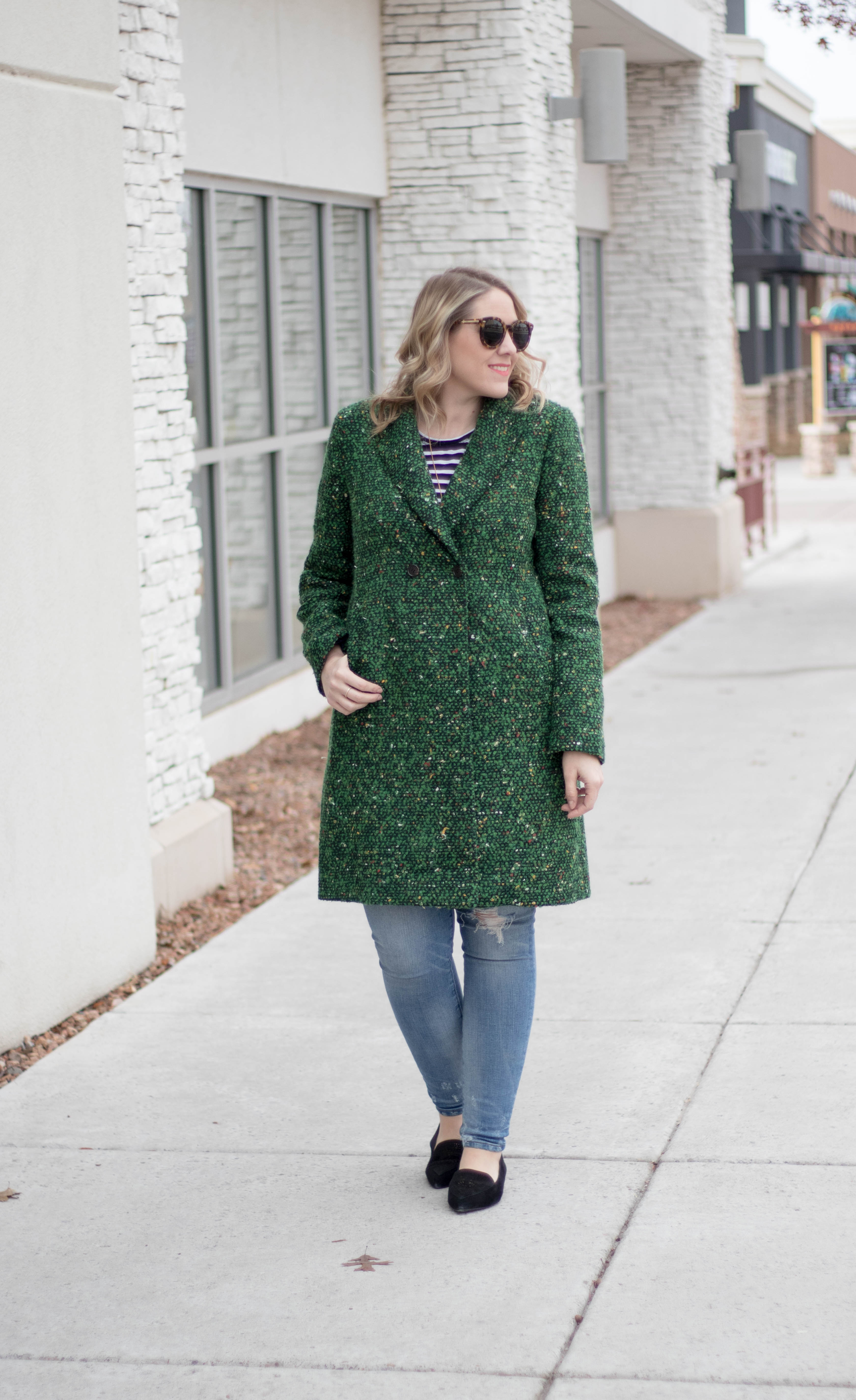 how to style a tweed coat for winter #winterfashion #winterstyle #jcrew