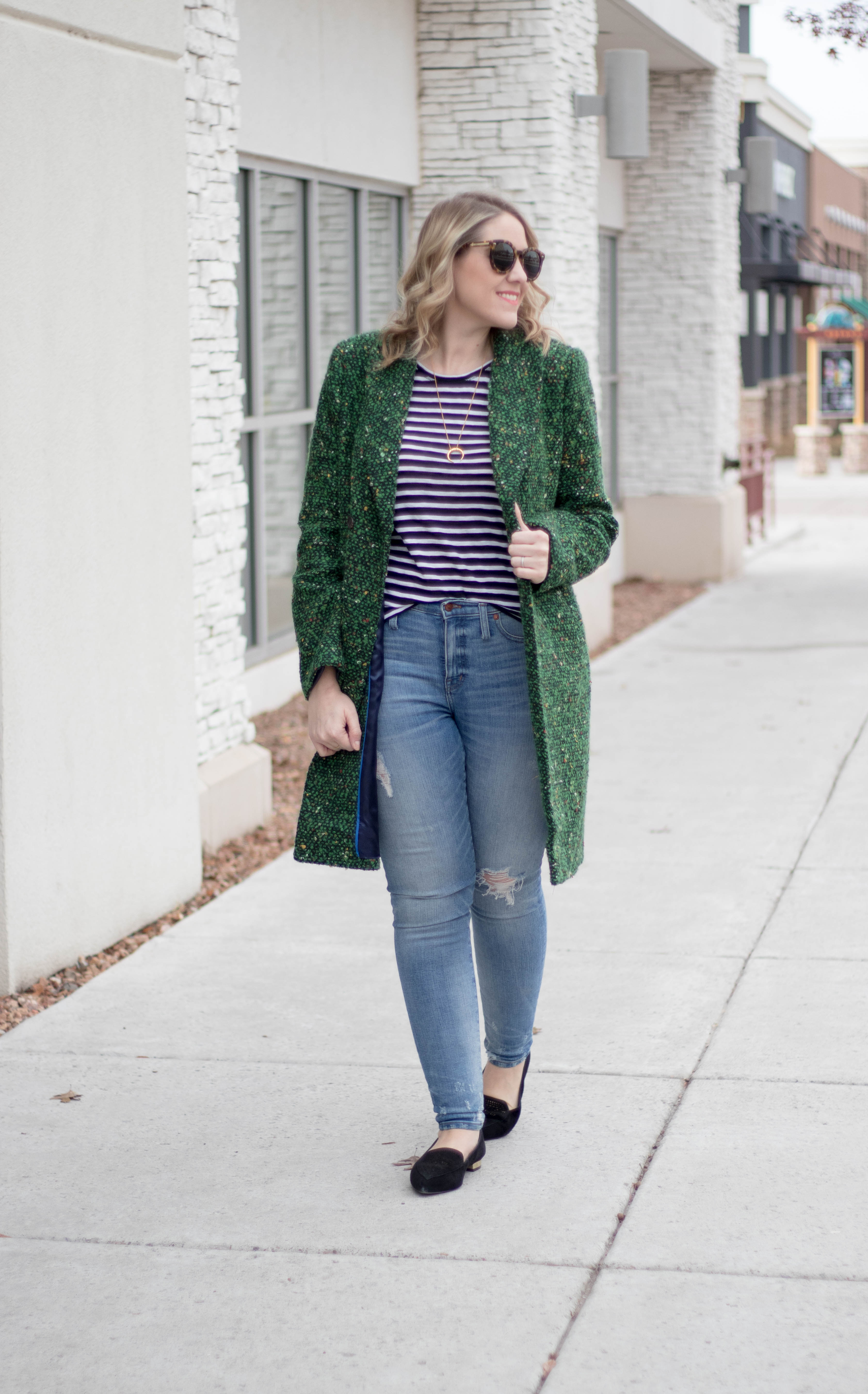 jcrew Daphne tweed coat outfit #jcrew #winterstyle #madewell