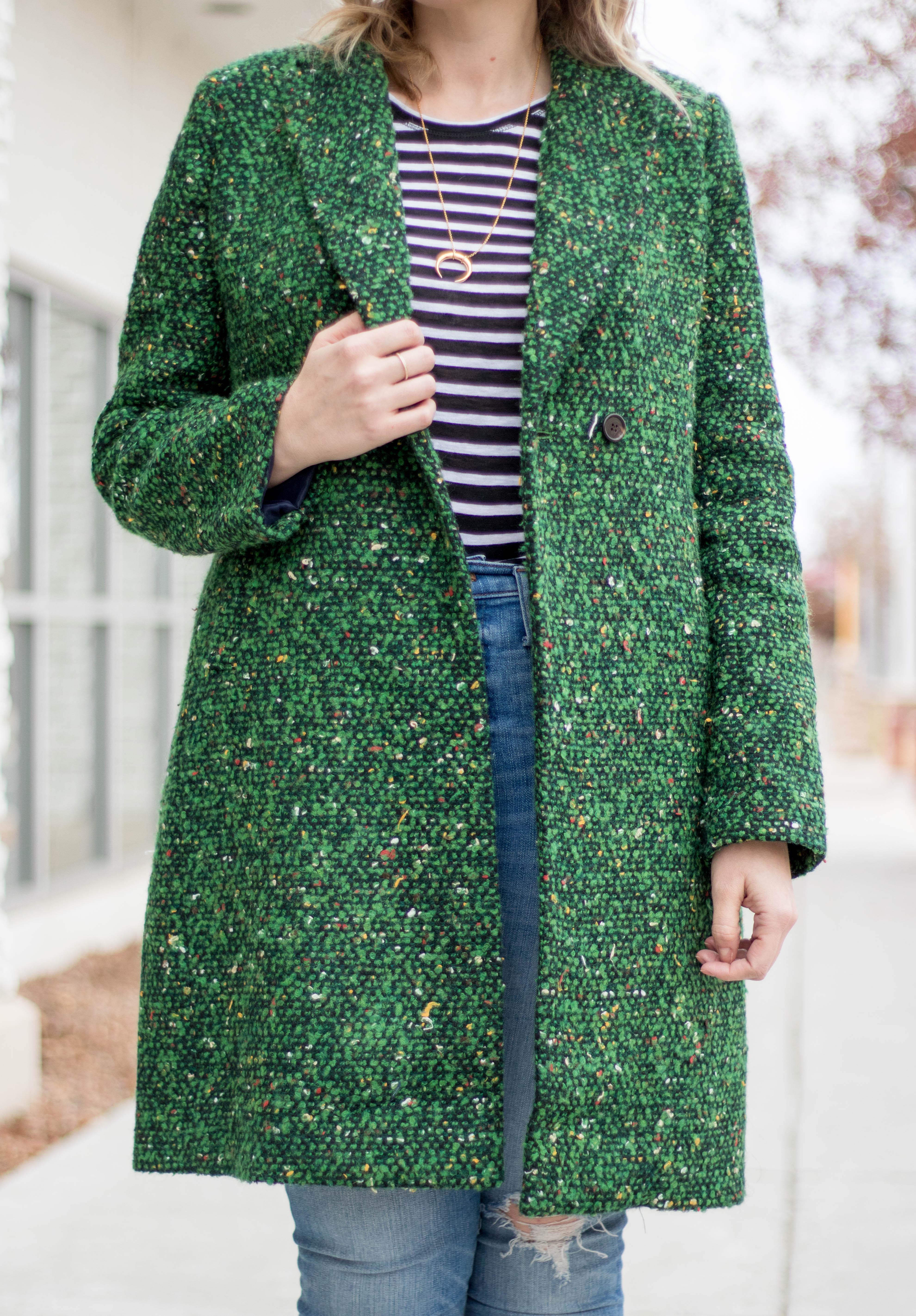 tweed coat for winter #tweed #winterfashion #jcrew