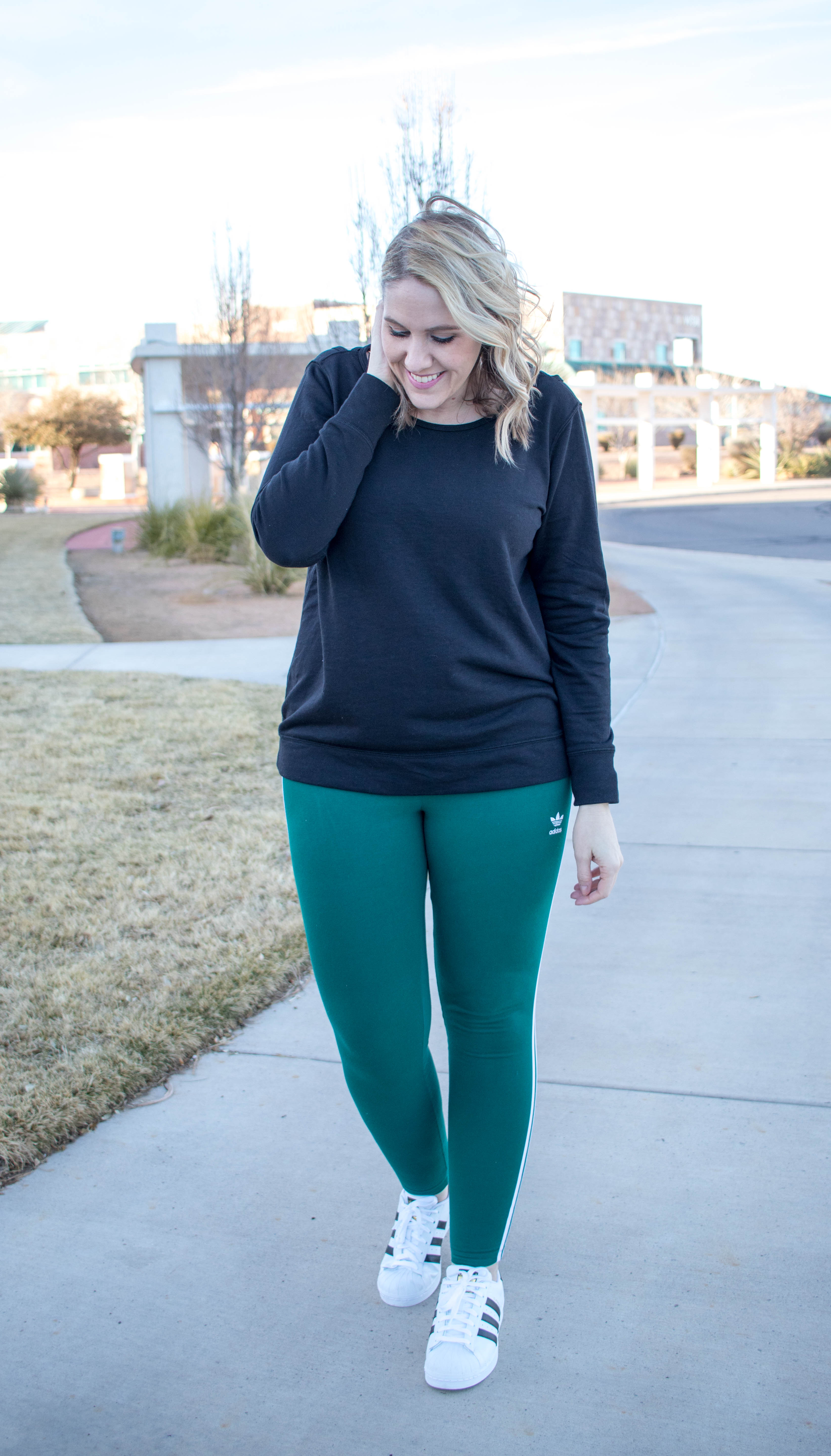 athleisure outfit Adidas #athleisure #Adidas #momstyle