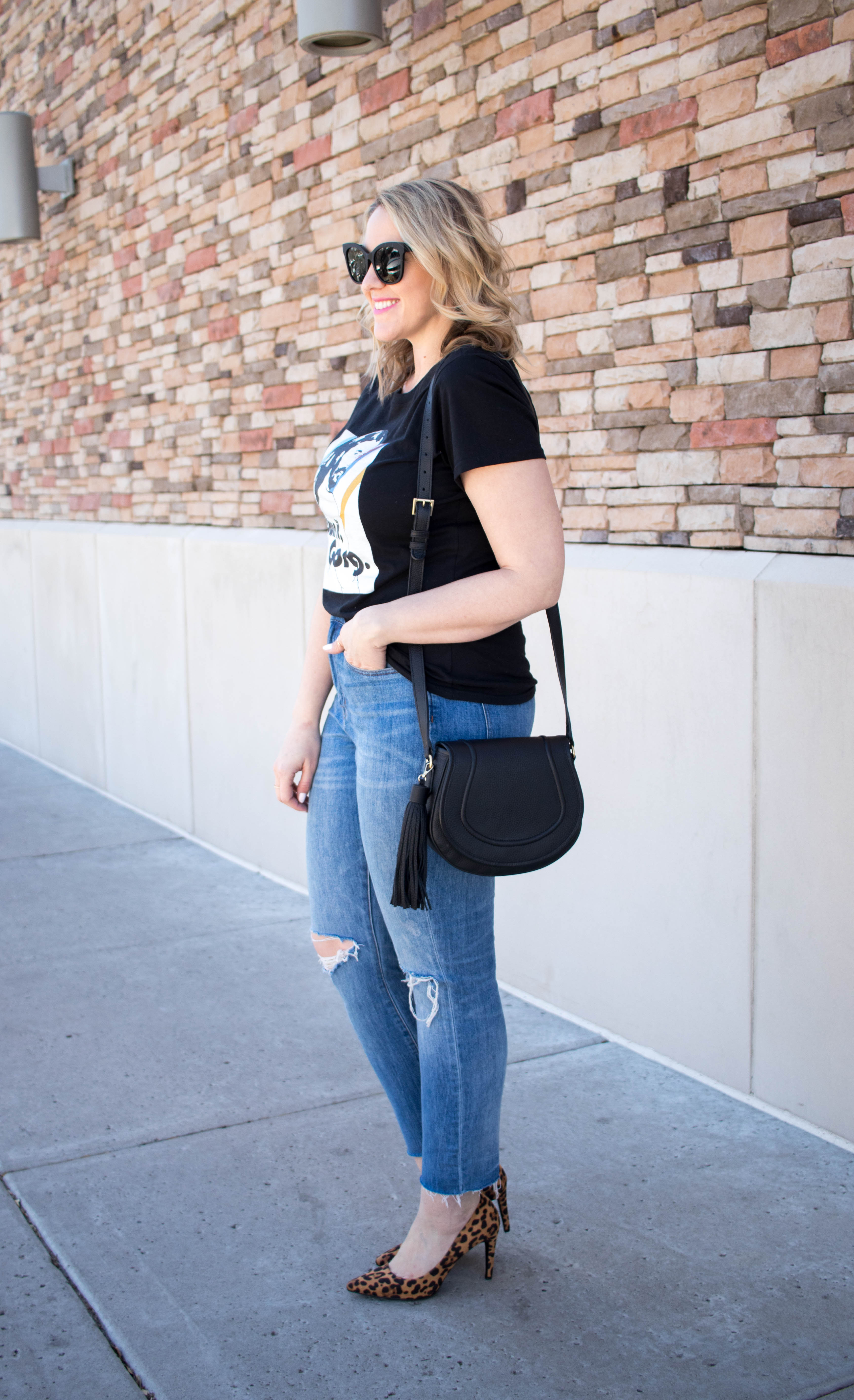 boyfriend jeans madewell outfit #madewell #distresseddenim #fashionblogger