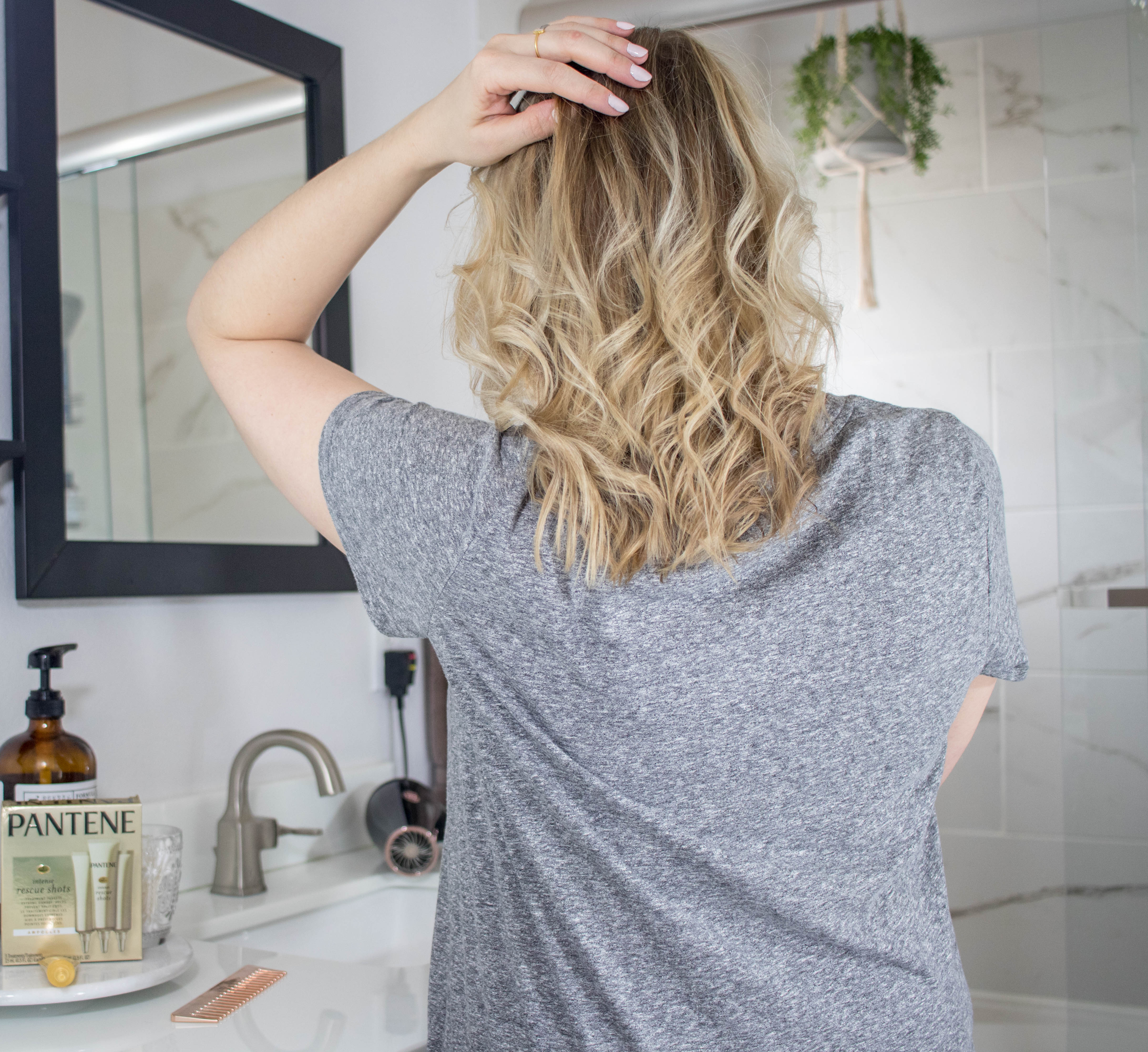 best haircare for blonde, color treated, fine hair #blondehair #pantene #hairproducts