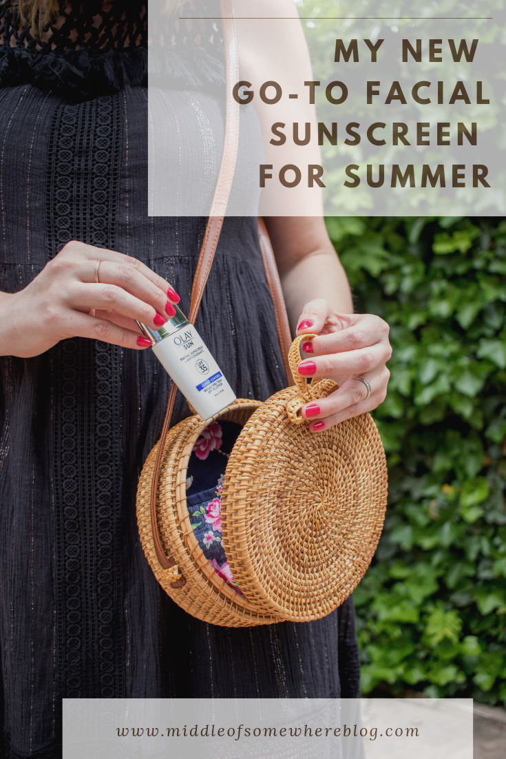 my new go-to facial sunscreen for summer olay sun #olaysun #ad #olay