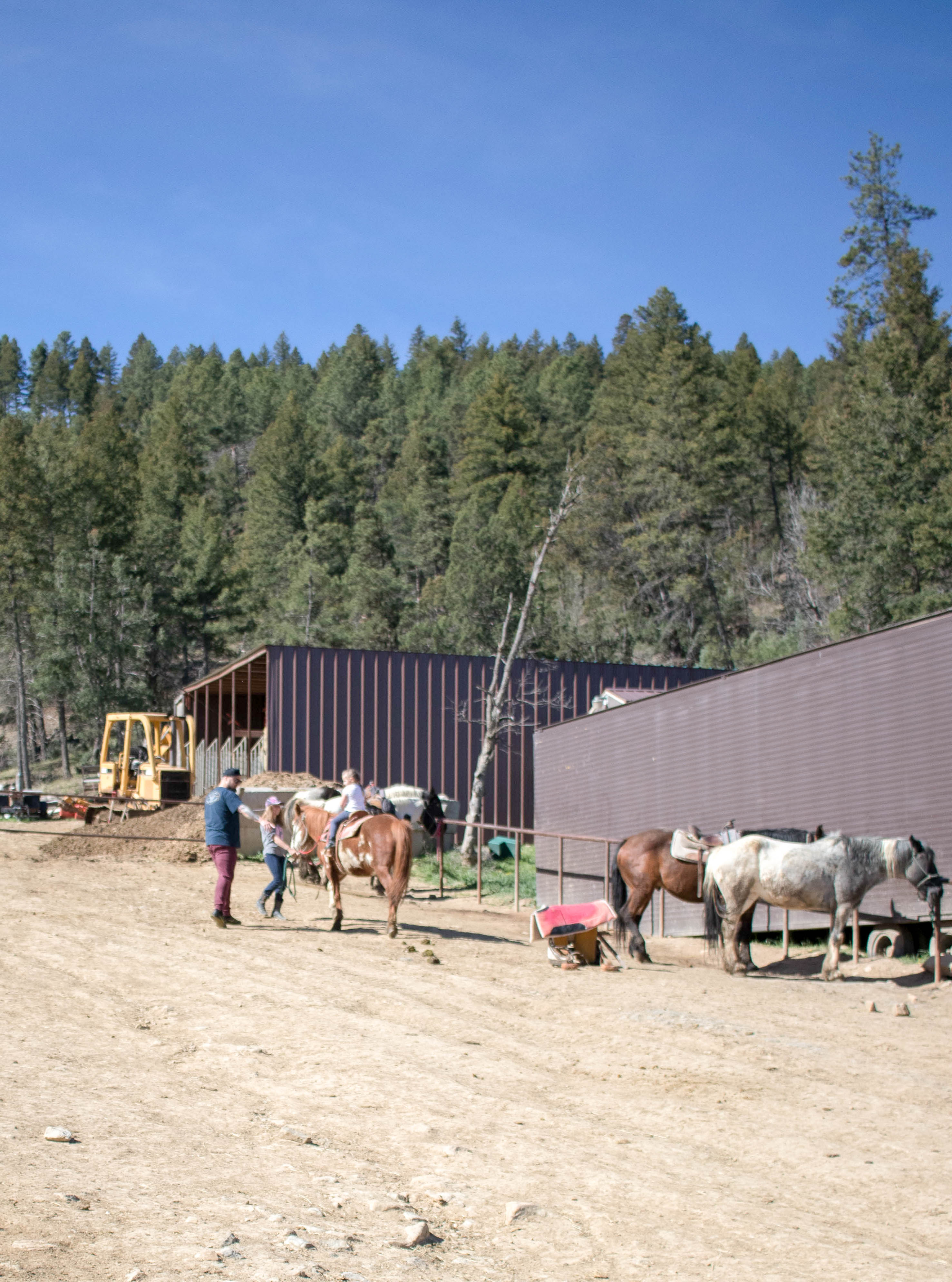 pony ride at grindstone stables #stables #ponyride #ruidoso