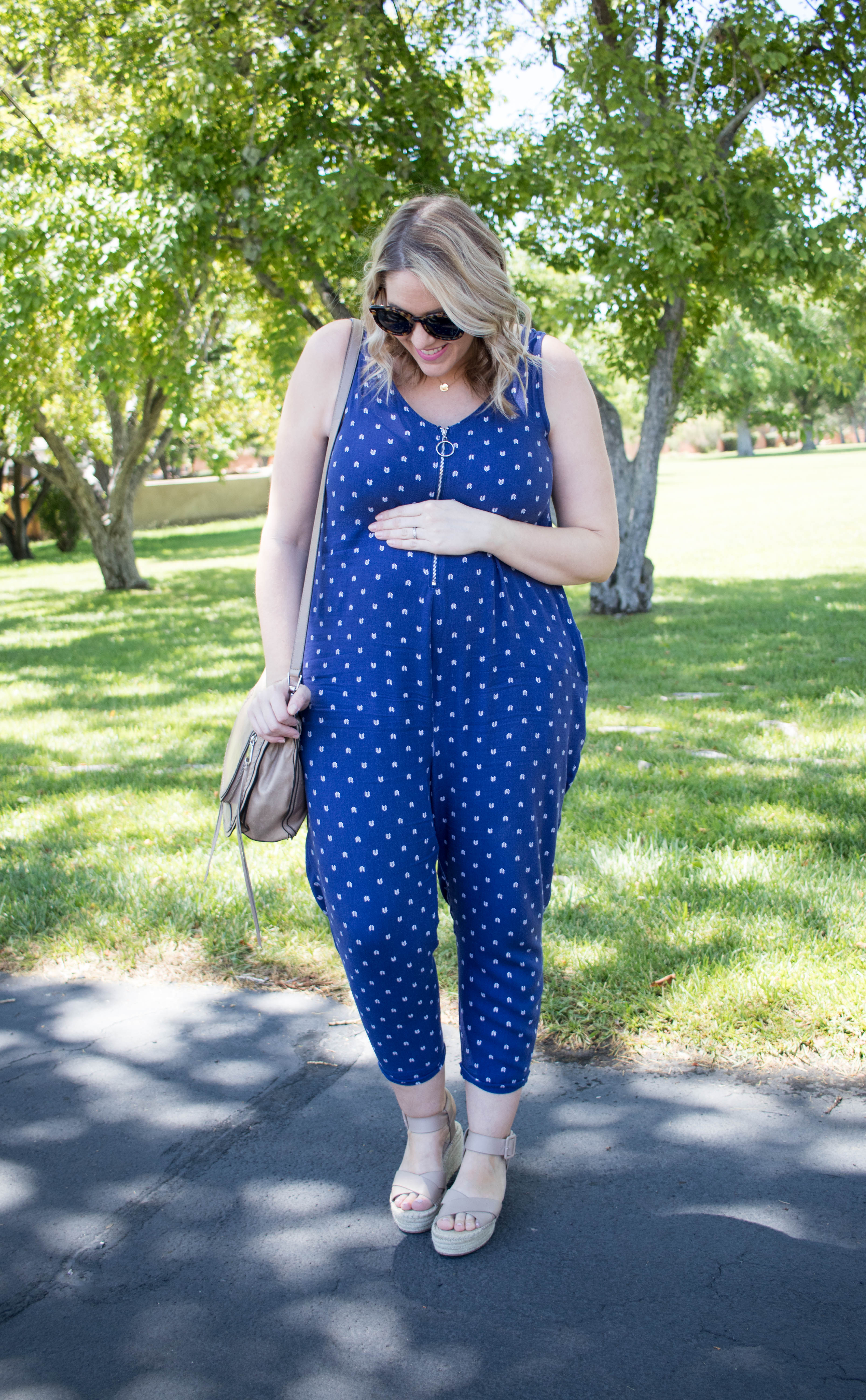ingrid and isabel maternity jumpsuit #jumpsuit #pregnancystyle #maternityfashion