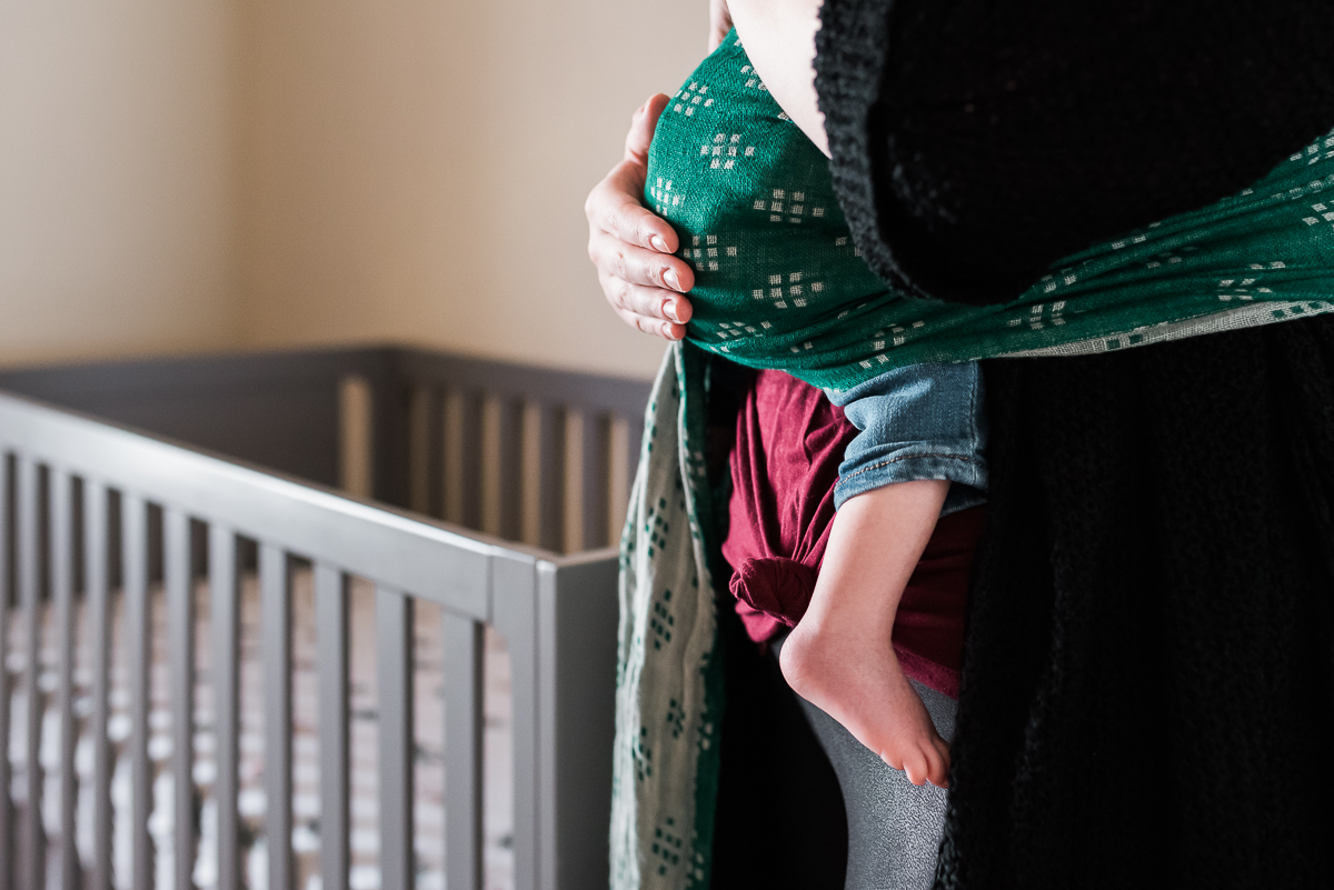 baby wearing wild bird detail photo #mywildbird #babydetails #nursery