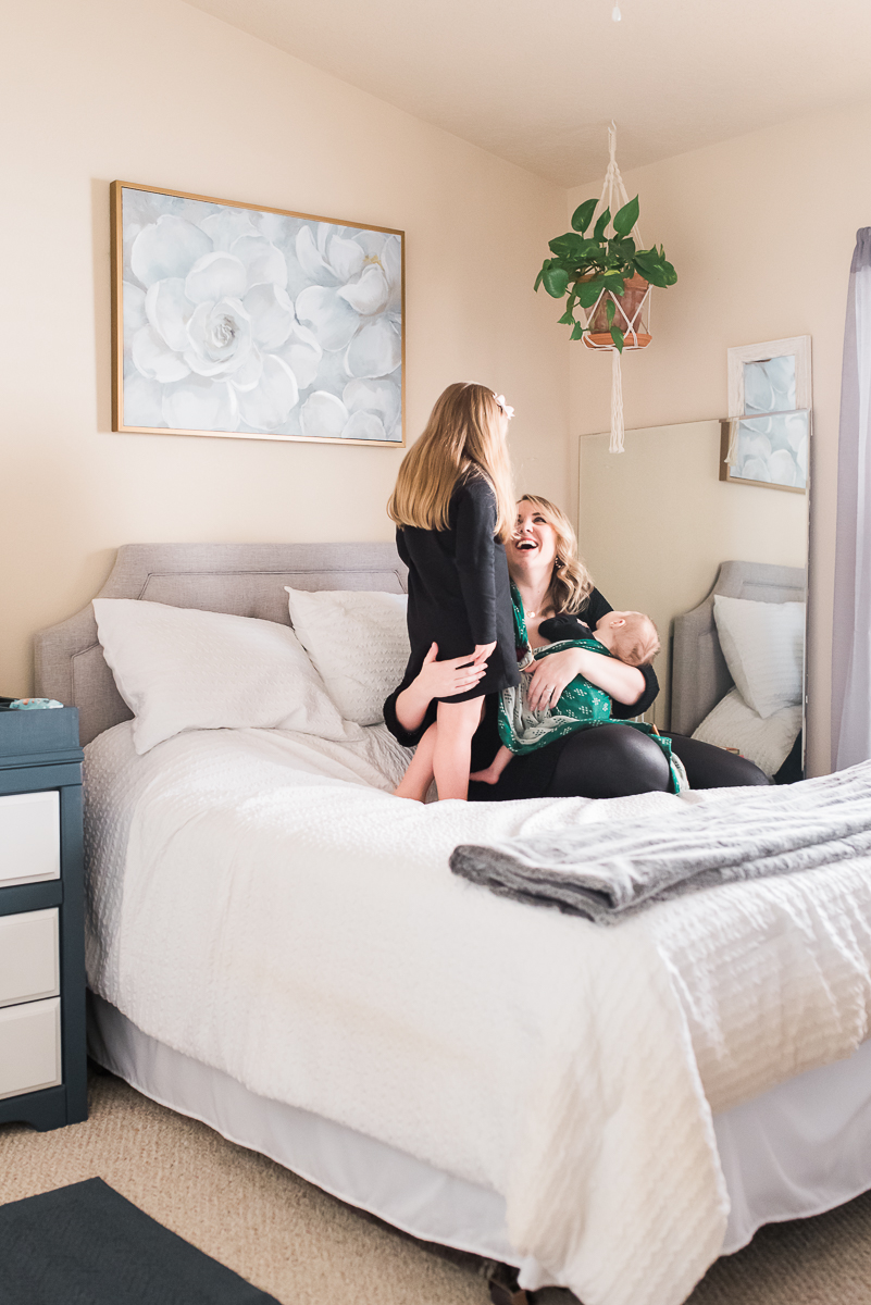 motherhood in home lifestyle photo shoot #motherhood #babywearing #momlife