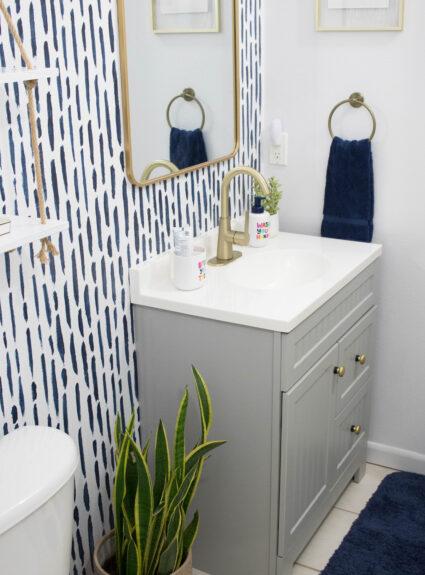 DIY Guest Bathroom Refresh