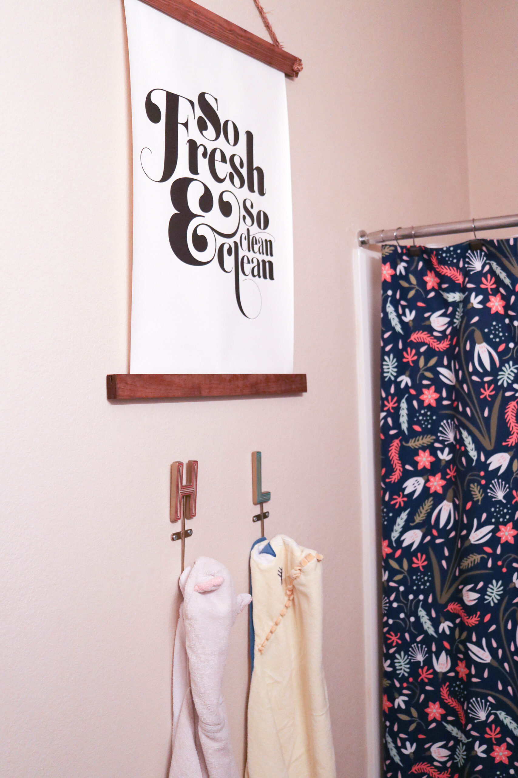so fresh and so clean clean bathroom sign #bathroomdecor #bathroom #guestbathroom